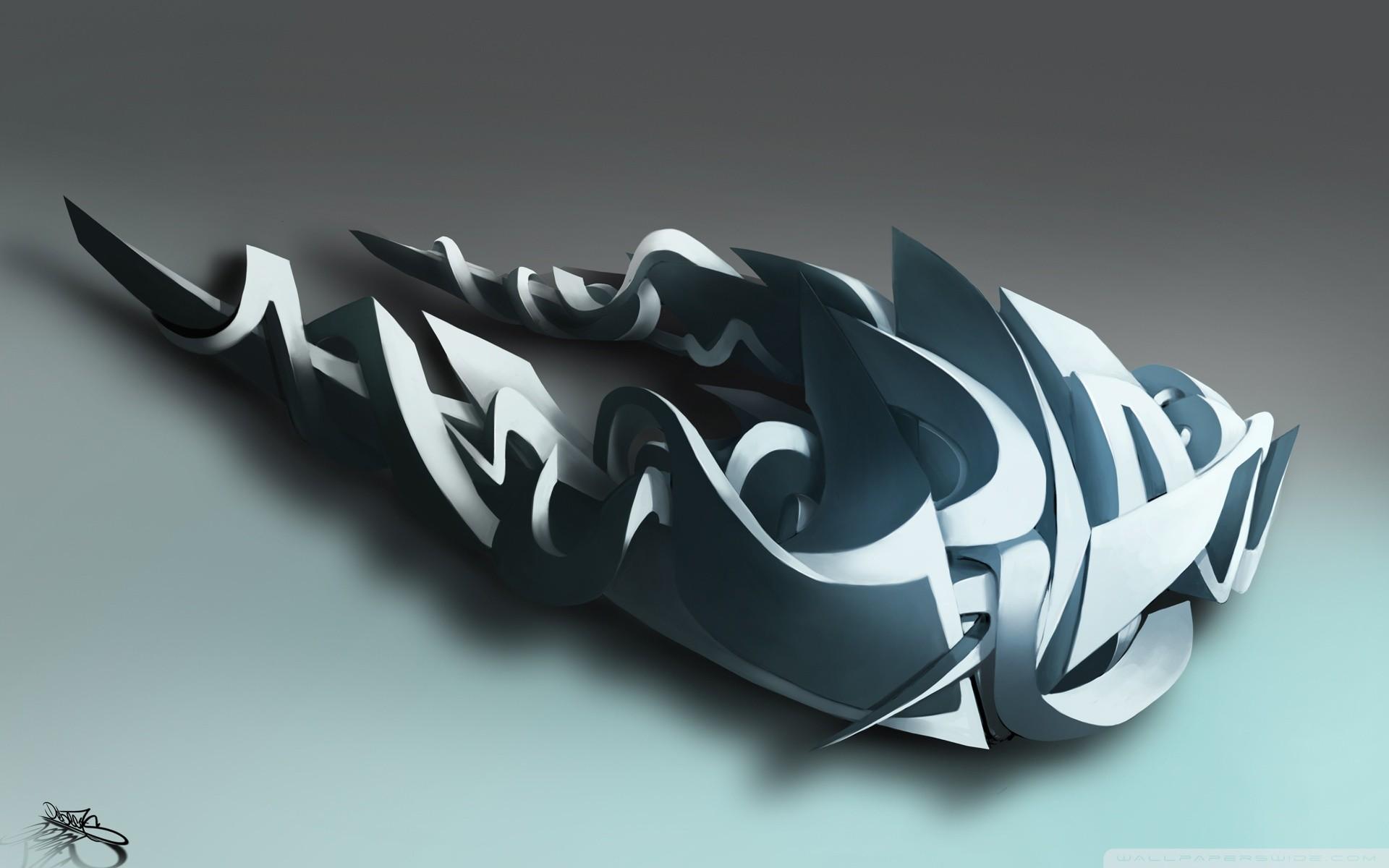 3D Graffiti HD Wide Wallpaper for Widescreen