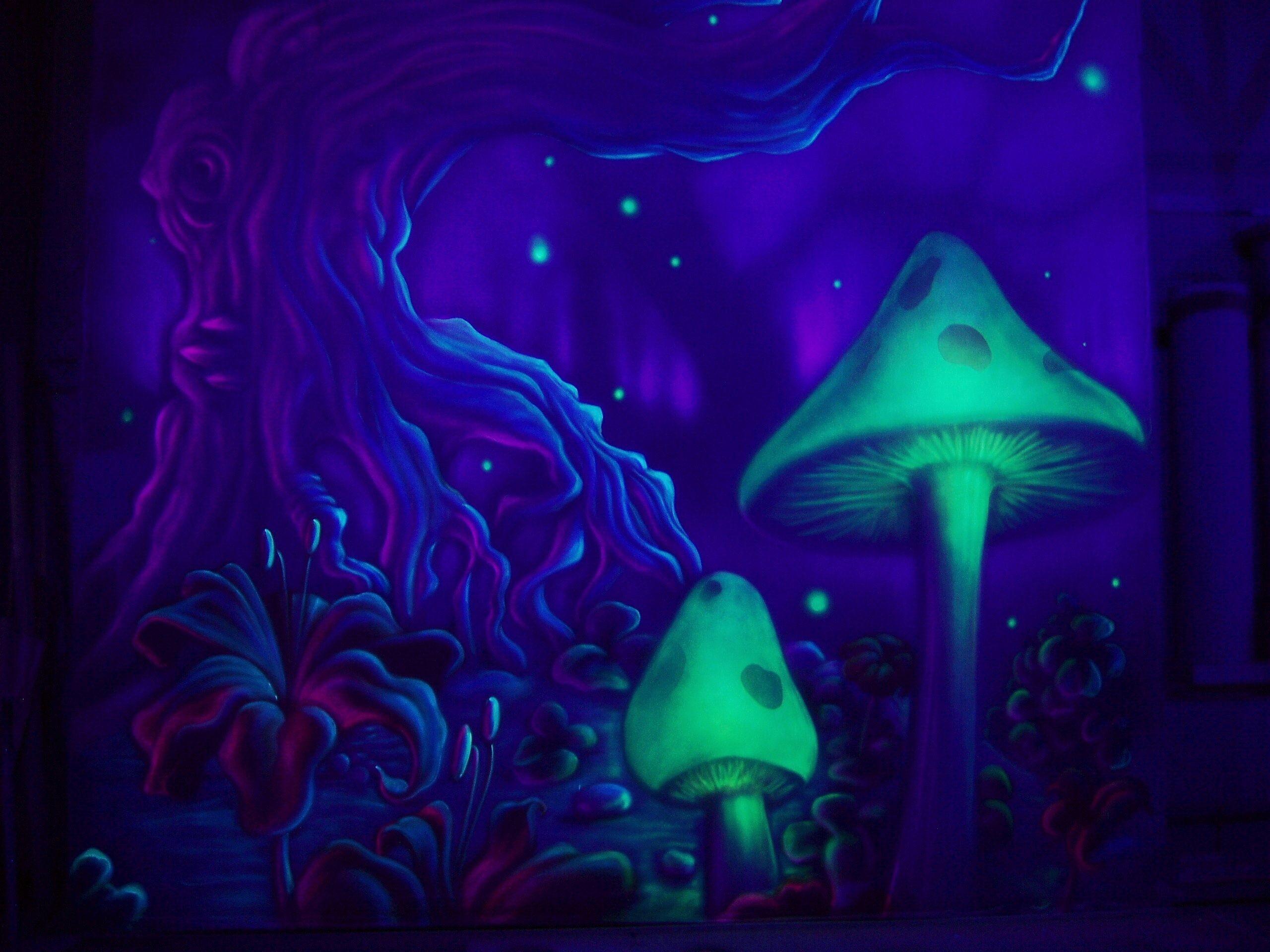 Trippy Mushroom Wallpaper