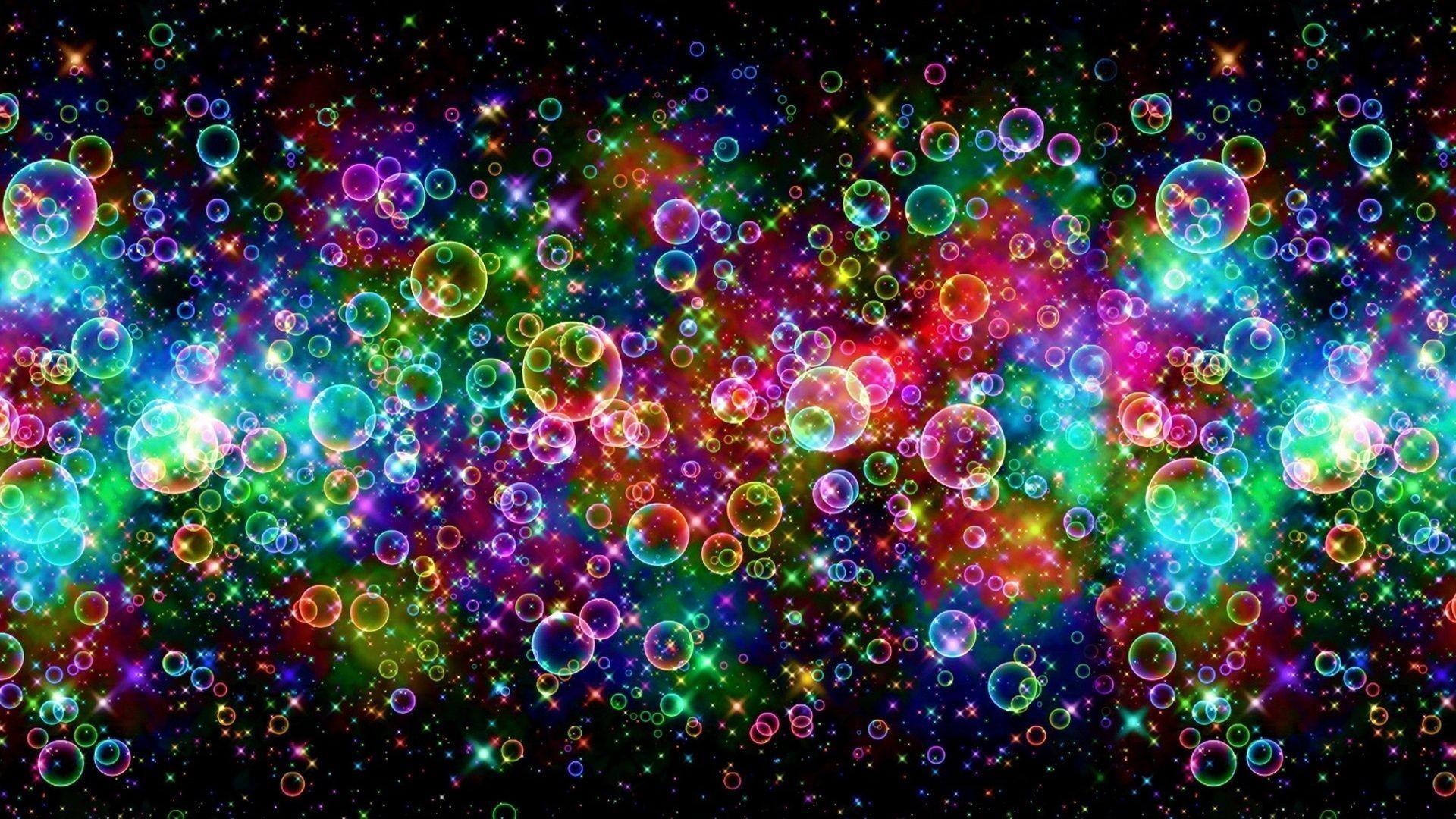 Psychedelic Bubbles desktop PC and Mac wallpaper