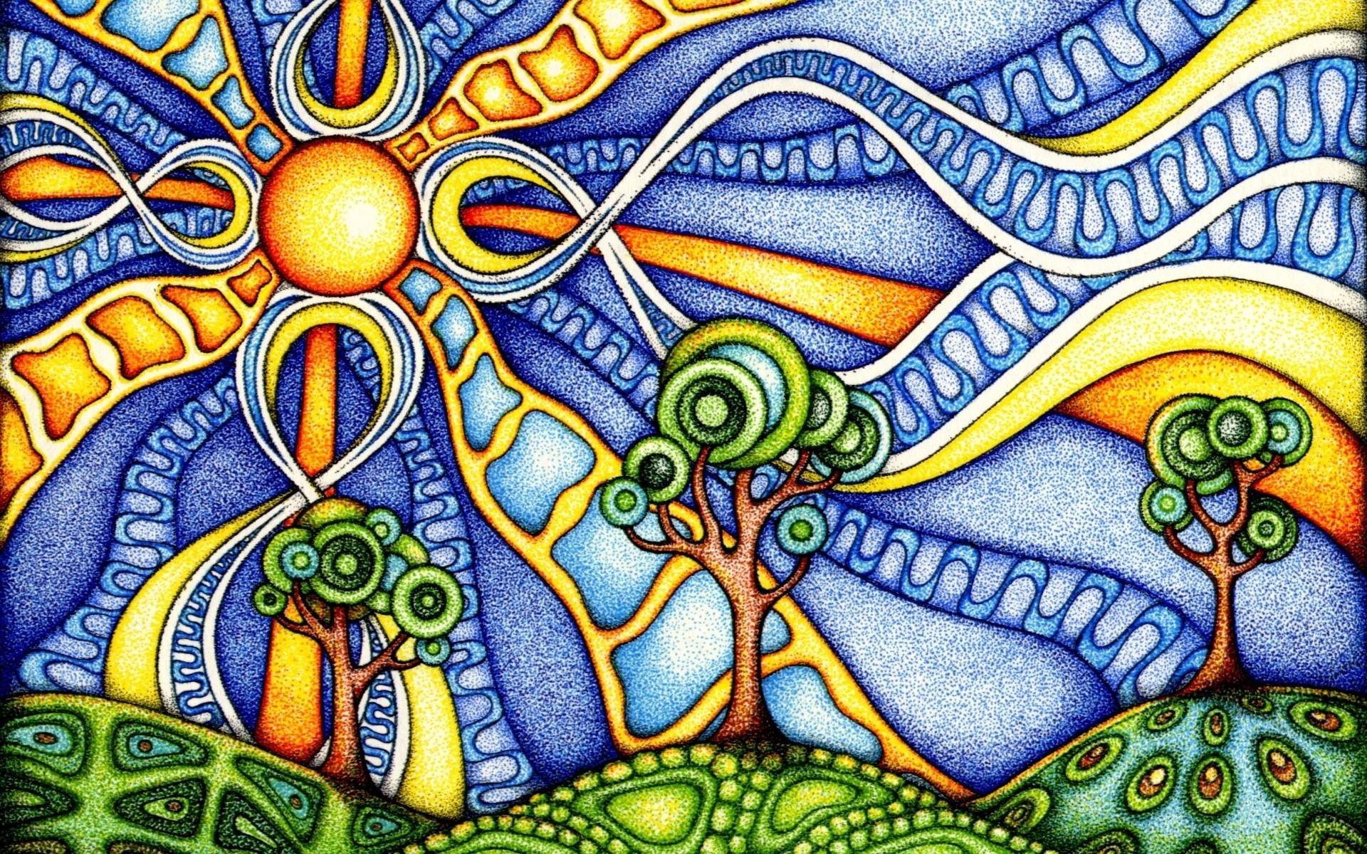 psychedelic art desktop wallpaper 50045