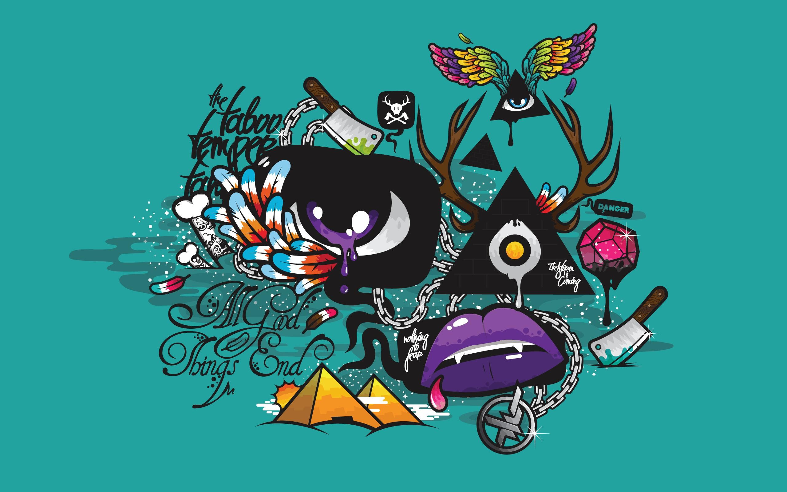 Urban Hip Graffiti Psychedelic Color Desktop Backgrounds