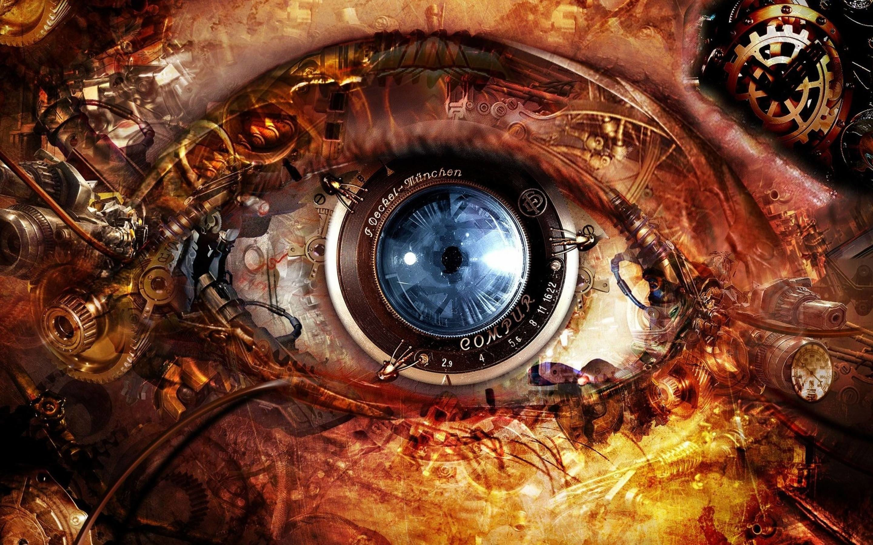 Steampunk Abstract Eyes HD Wallpapers – High Definition Wallpapers