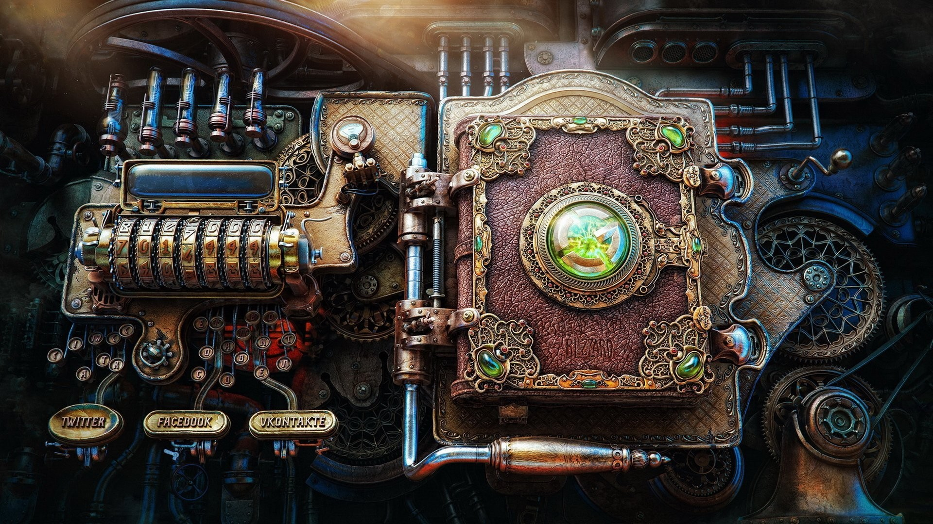 render steampunk fiction book the mechanism steampunk .