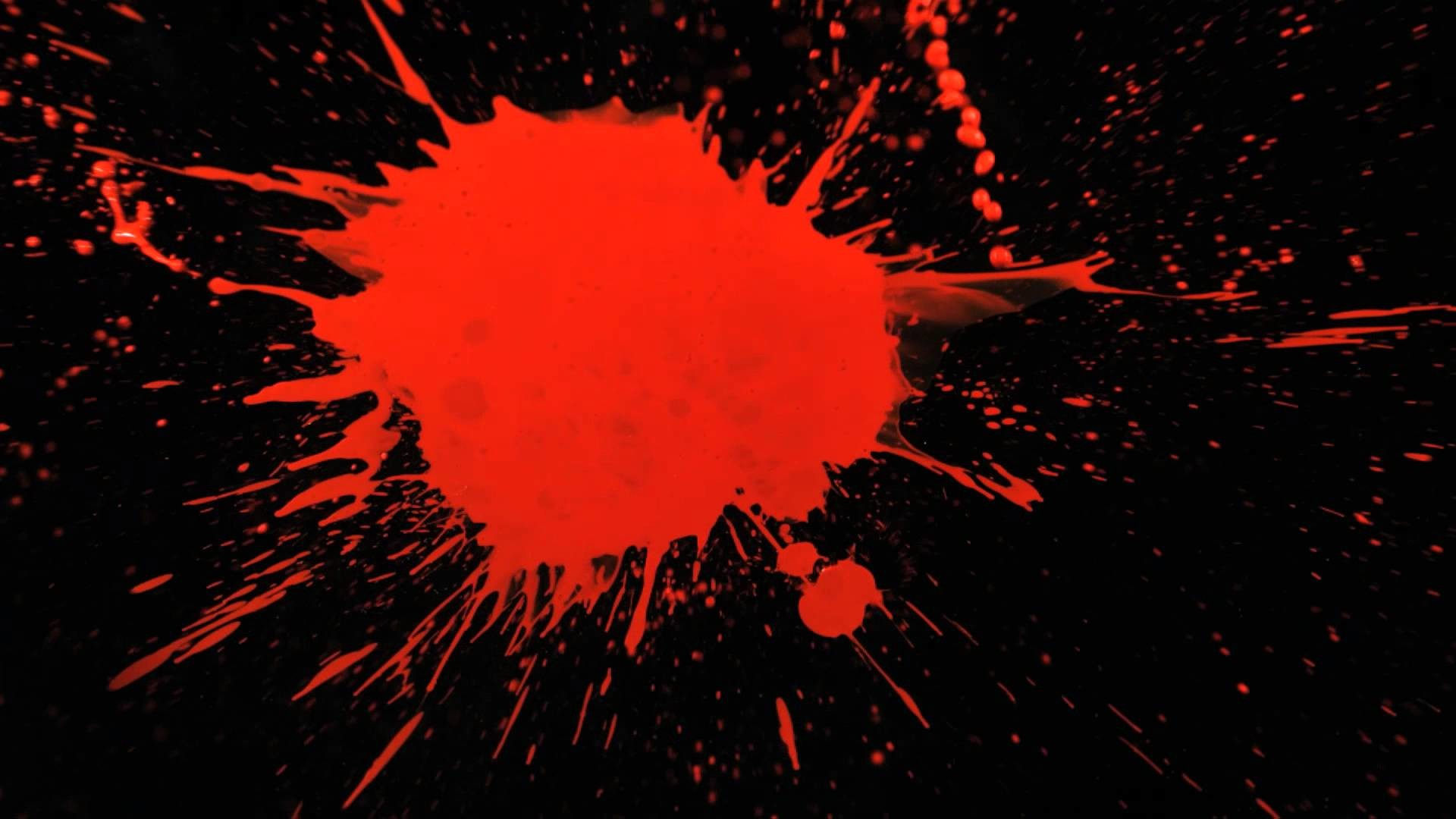 Slow Motion Paint Splatter with Red Paint Splattering a Black Background in  HD Slow Mo Video View – YouTube