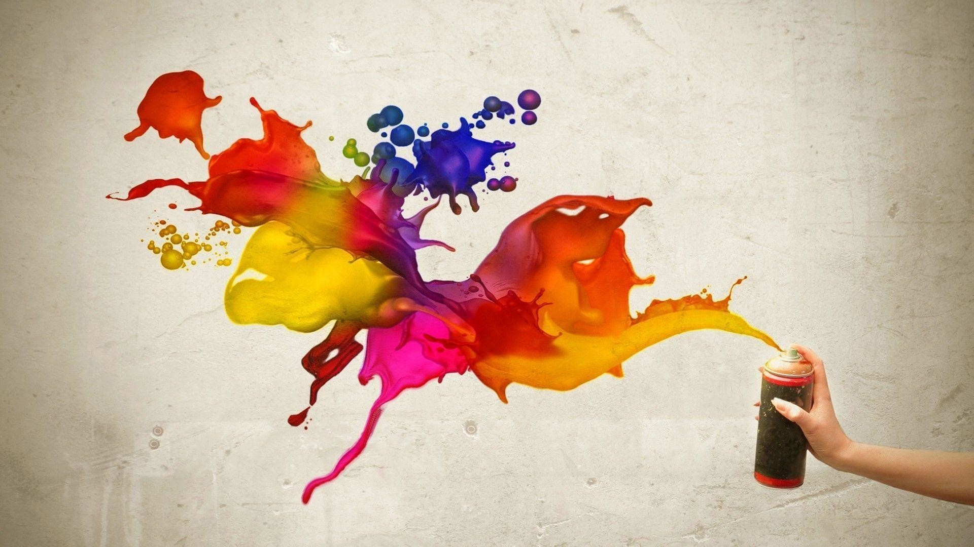 3d Paint Splatter Wallpaper – Viewing Gallery