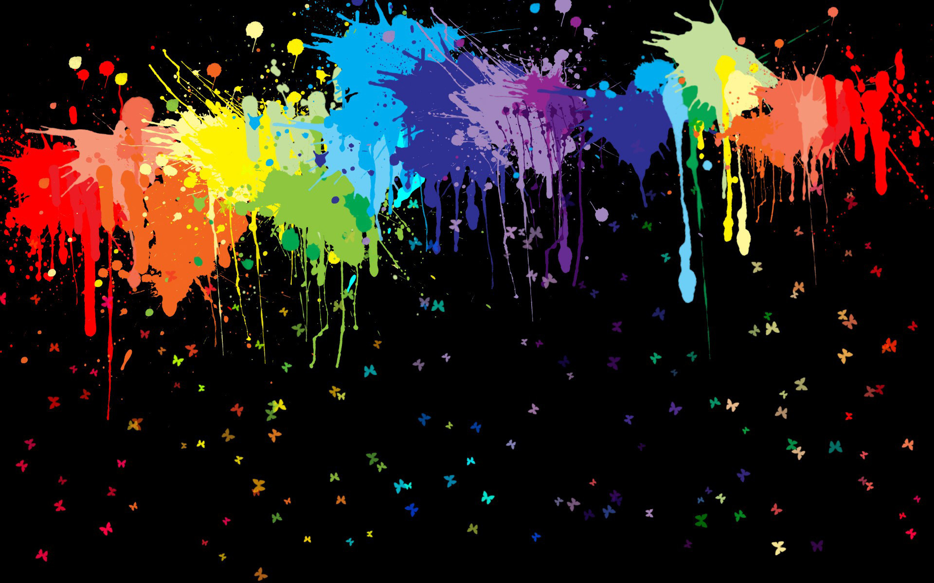 Rainbow Paint Splatter wallpaper 869