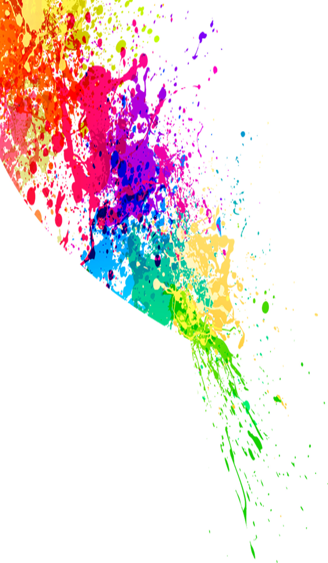 Colorful Paint Splatter Png image #33324