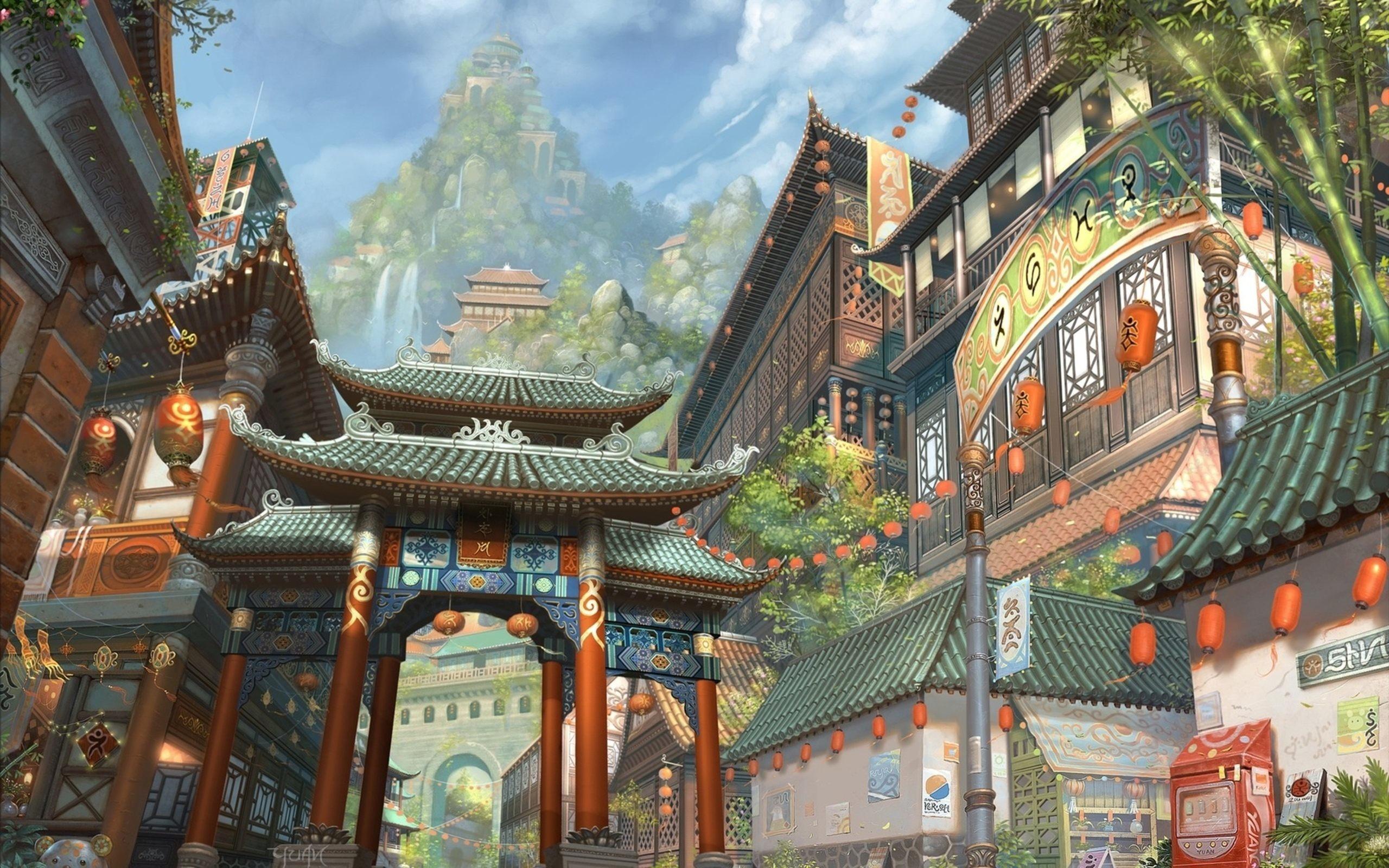 Japanese Art Painting Fantasy Wallpaper