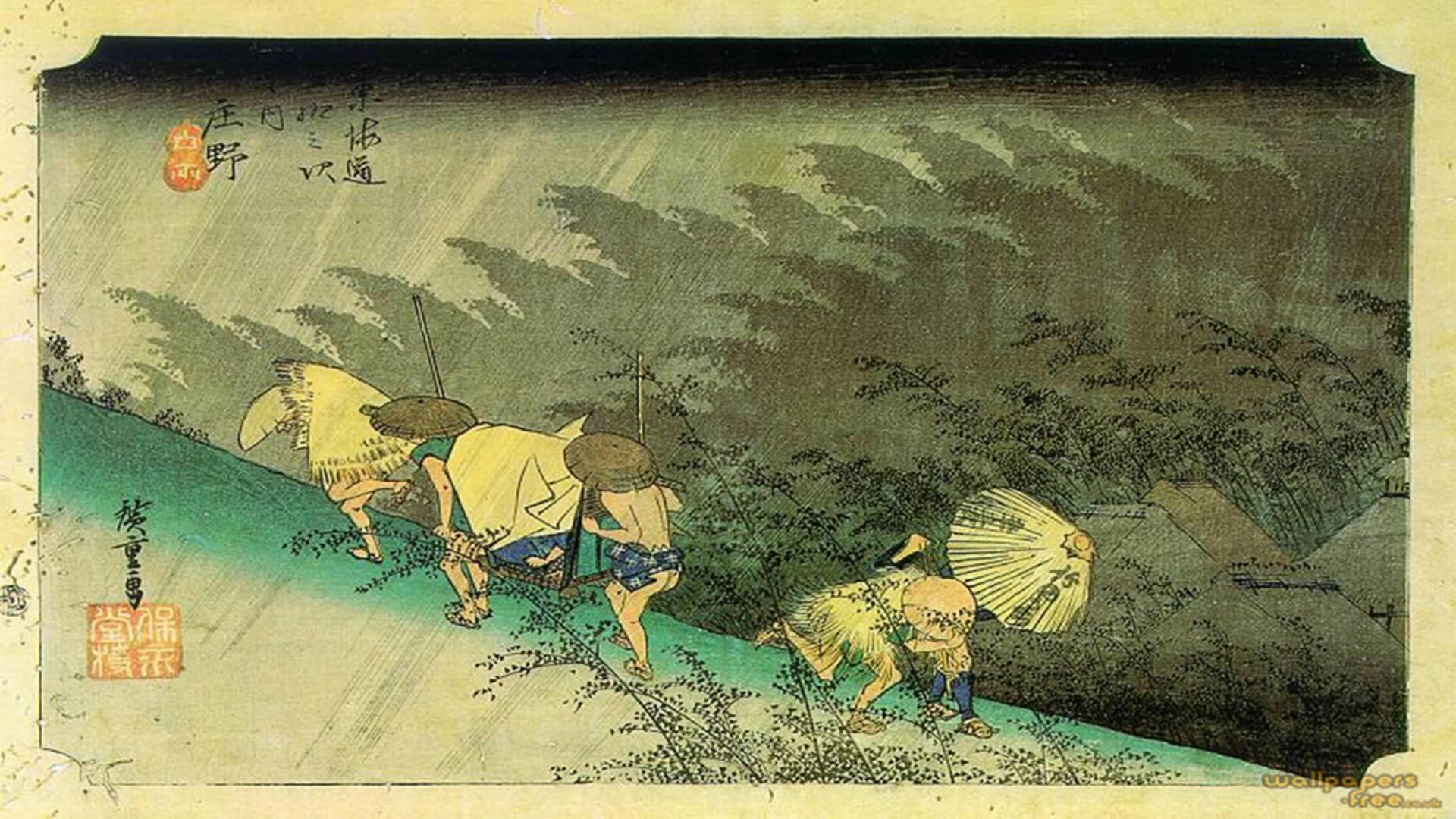 previous japanese wallpaper. Sudden Shower Over Shono