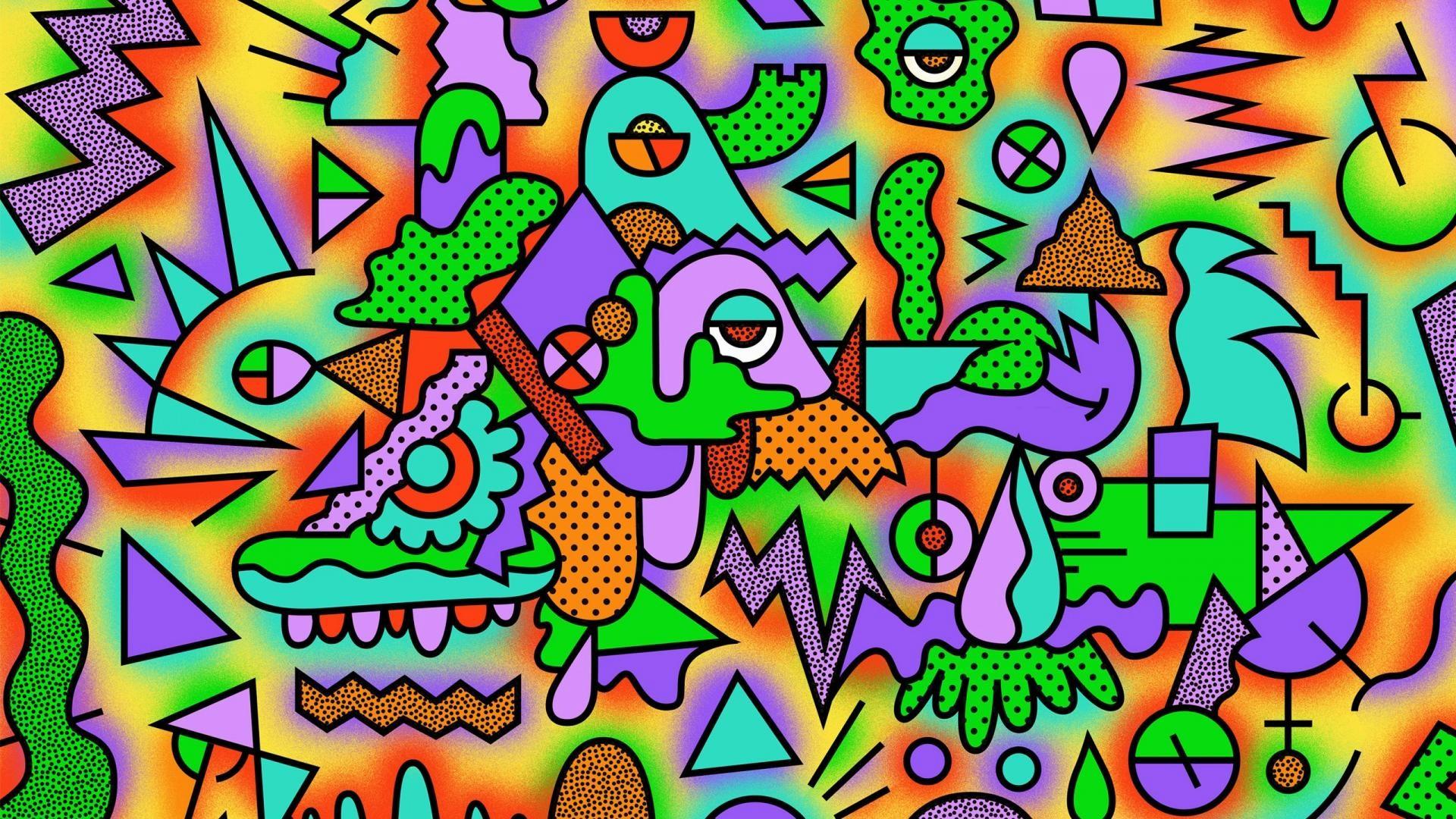 wallpaper.wiki-Figurines-Colorful-Drawing-Acid-Trip-Wallpaper-