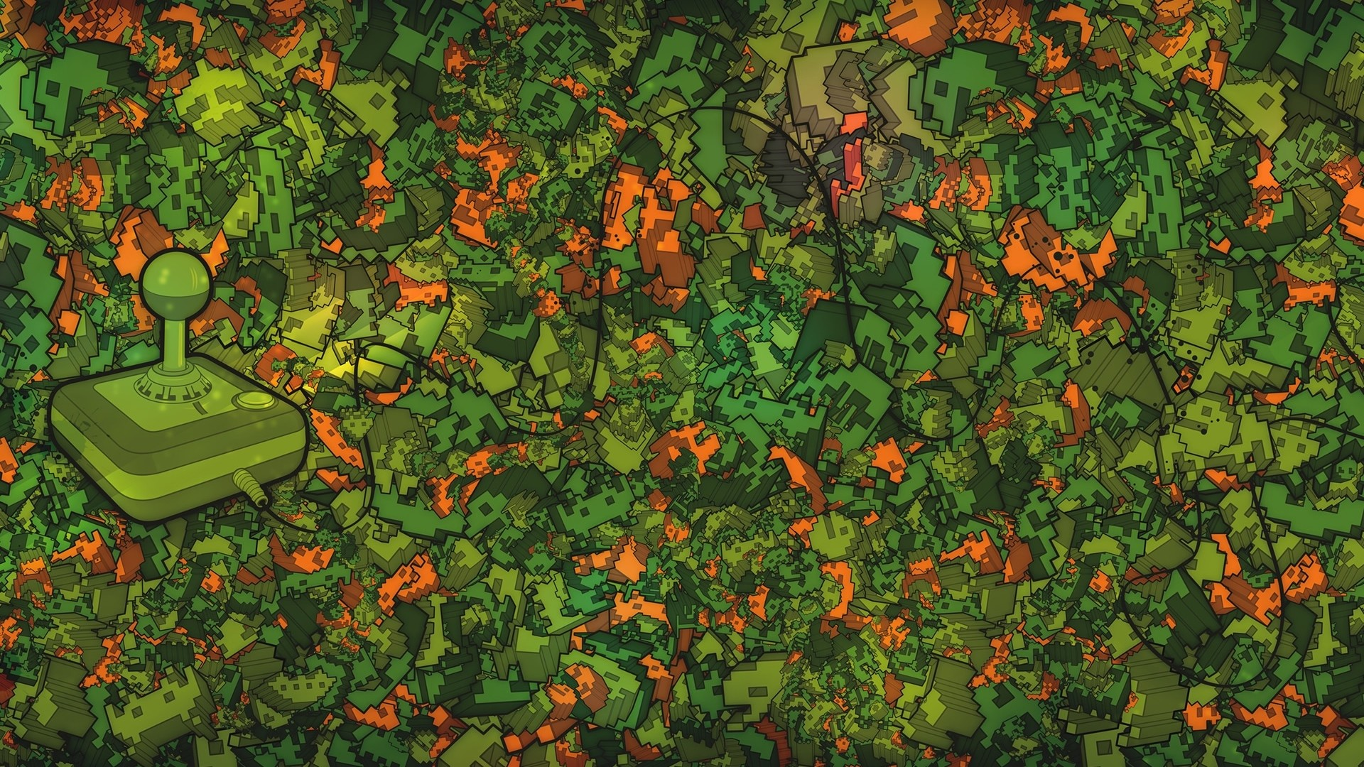 Preview wallpaper game, console, green, surface, acid 1920×1080