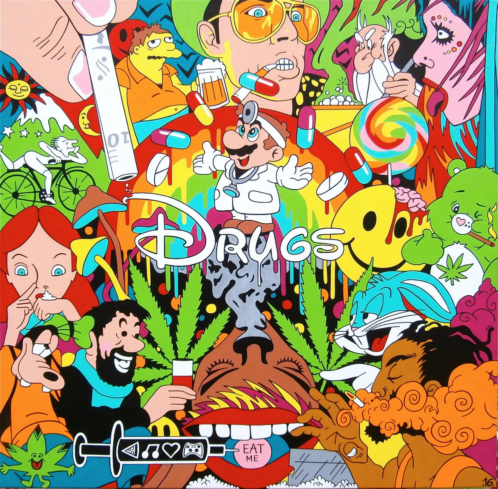trippy disney cocaine drugs weed lsd bugs bunny acid trip ariel mario Super  Mario fear and loathing in las vegas smoke weed speed meth mdma acid trip  lsd …