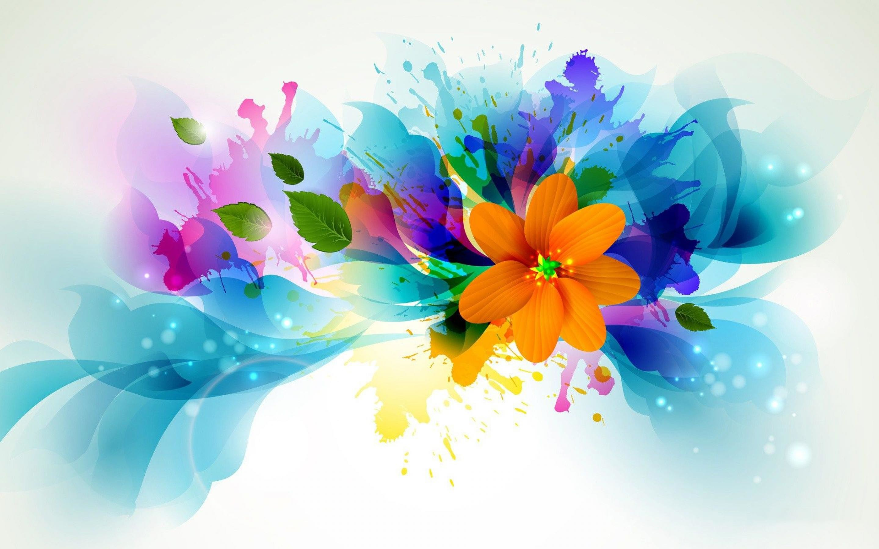 Abstract-Colorful-Flowers-Art-WallPaper-HD | Wallpapers Photos