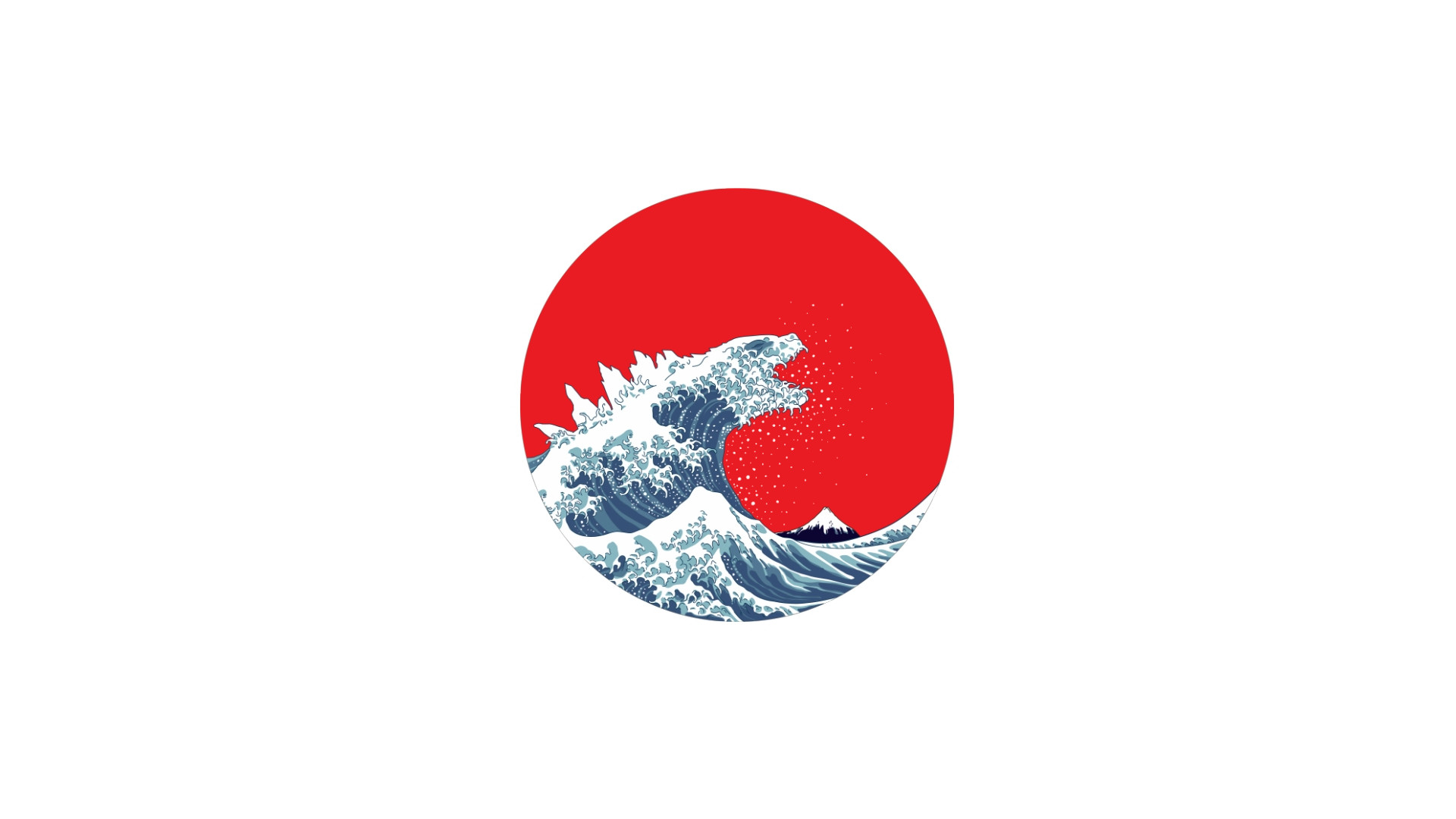 The Great Wave of Kaiju [1920×1080] …