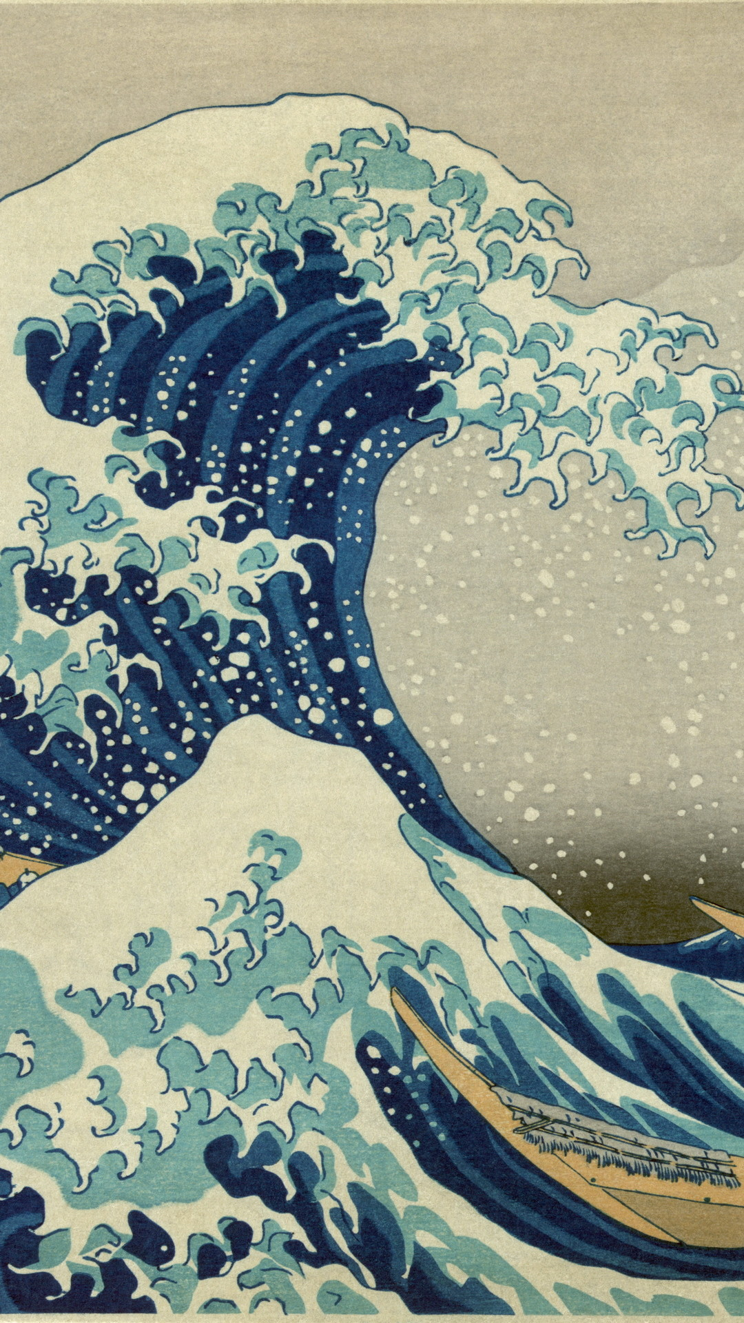 Art The Great Wave off Kanagawa Blue