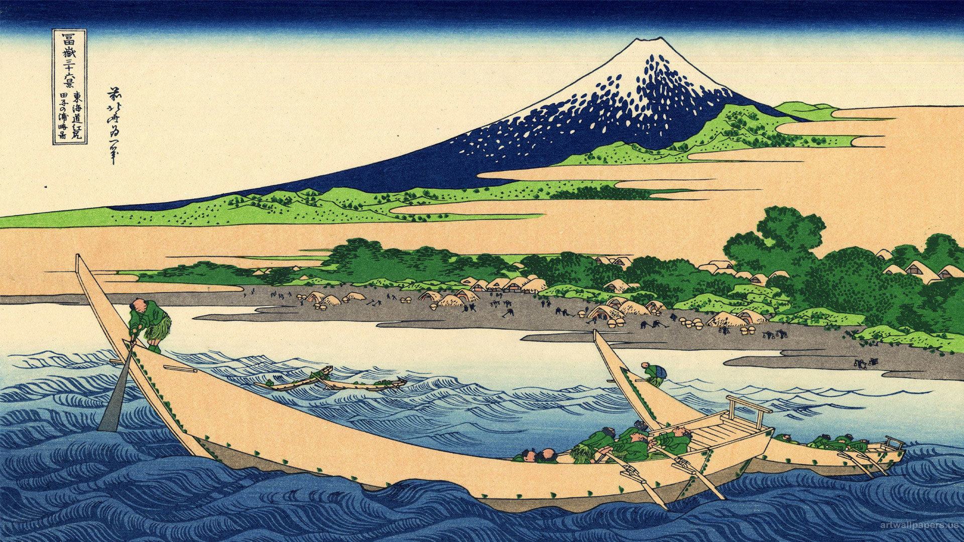 Hokusai Wallpaper, The Great Wave at Kanagawa, Art Print, Wallpapers .