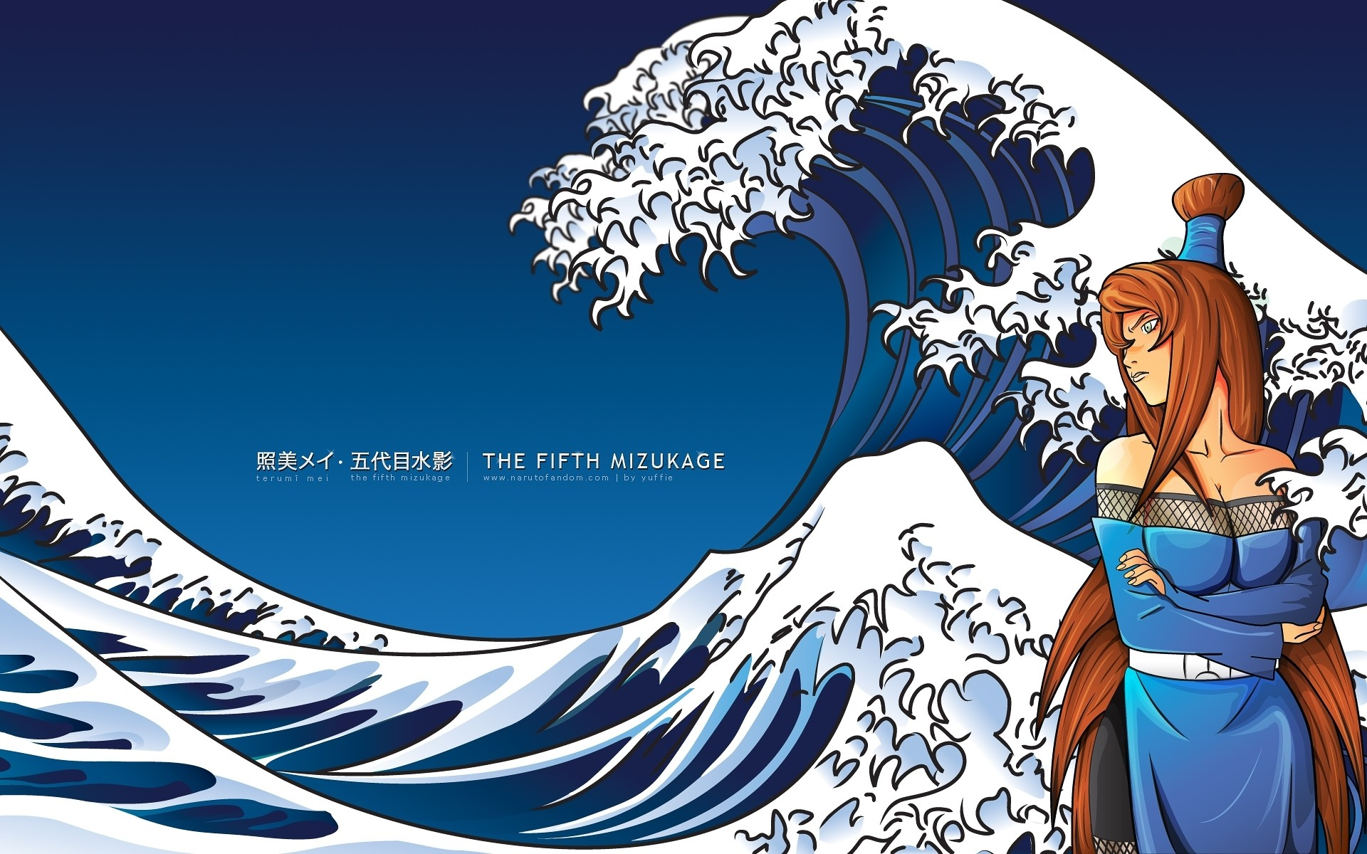 Waves naruto shippuden mizukage mei terumi the great wave off kanagawa  wallpaper
