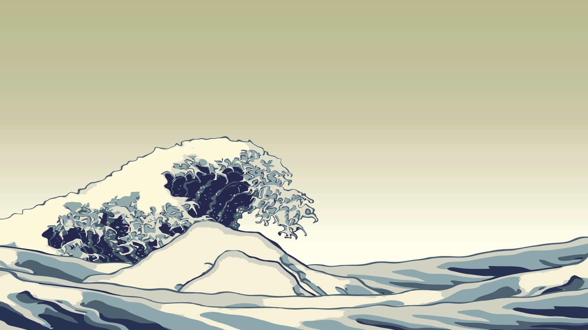 """Great Wave"" animation, Ukiyo-e"