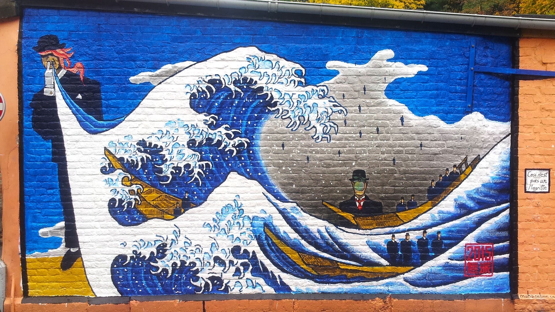 Ceci n'est pas un Magritte or the Great Wave of Verviers, Belgium – YouTube