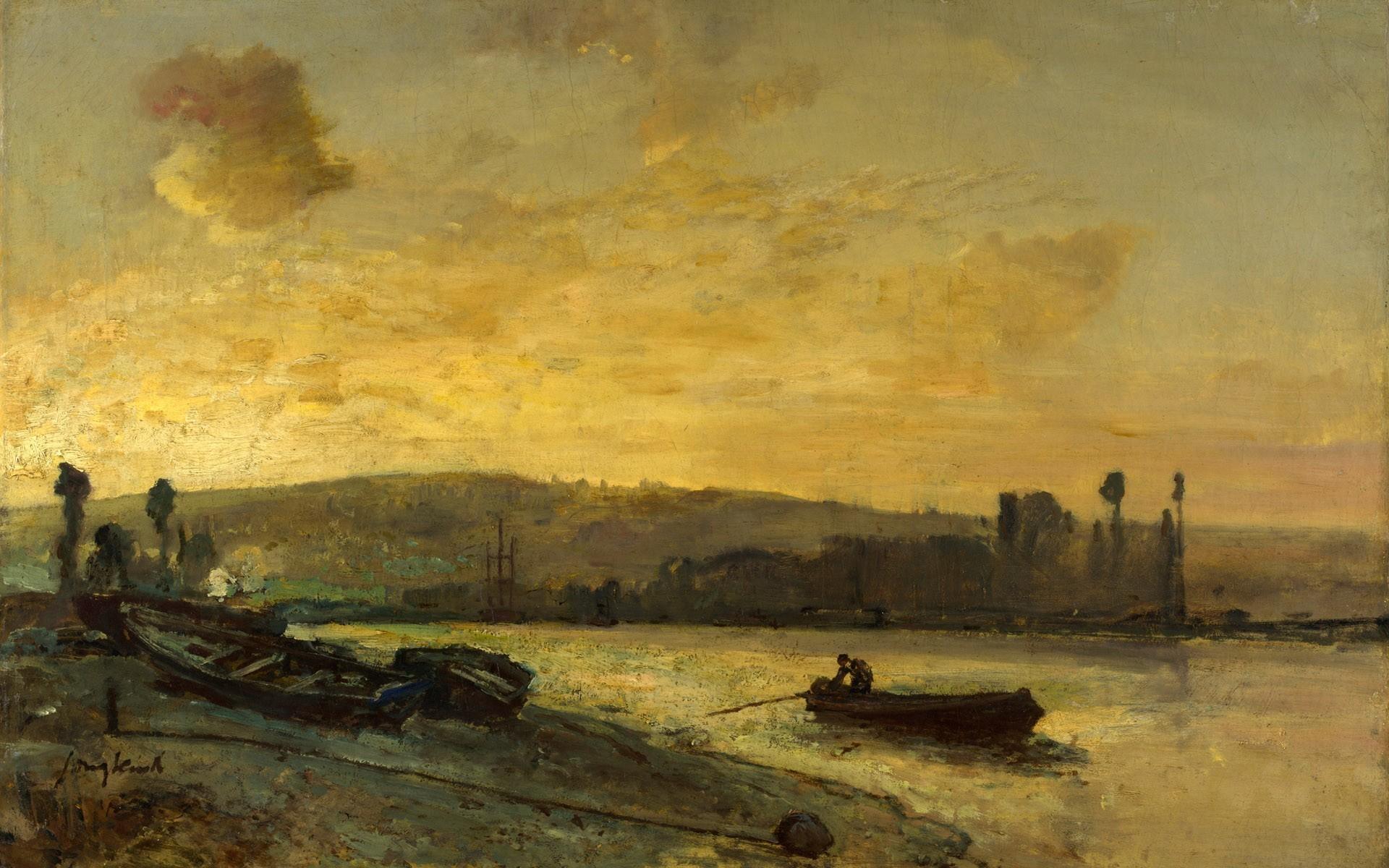Boats paintings renaissance vehicles wallpaper