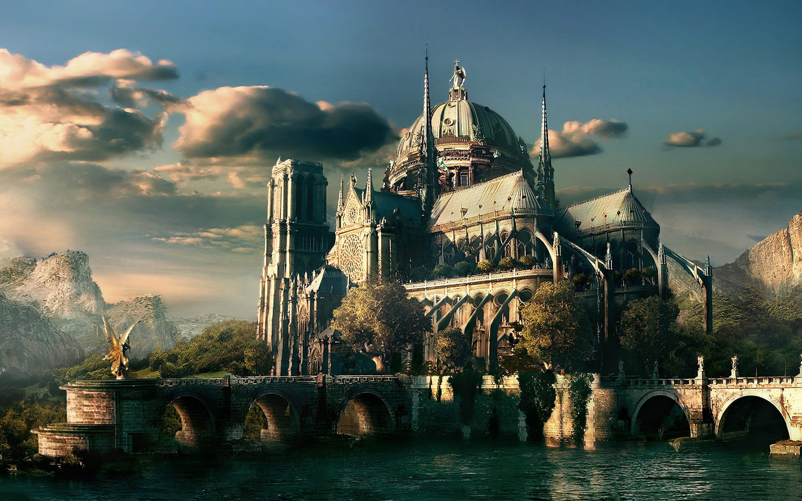 Castle from stories – an art. Misc, Stuff Wallpapers. HD Wallpaper Download  for