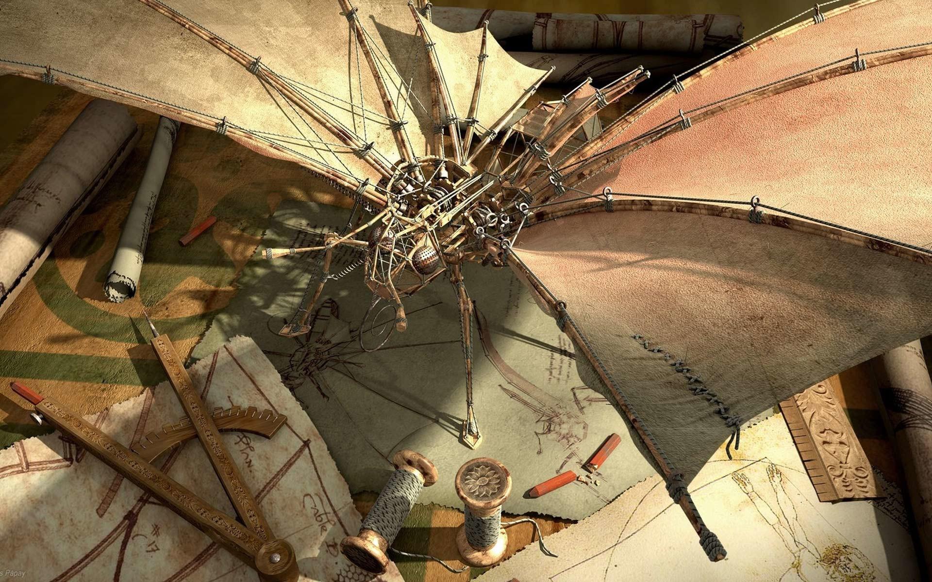 Desktop Wallpaper · Gallery · 3D-Art · Leonardo da Vinci workshop .