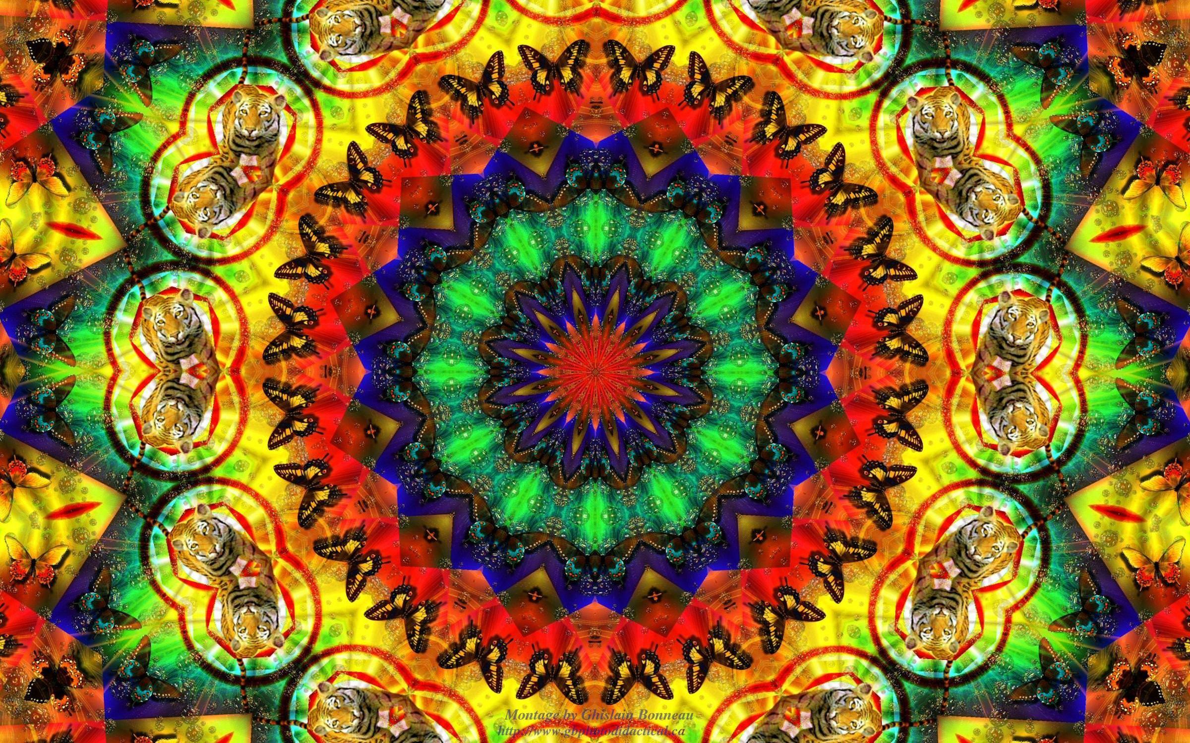 Trippy Background of Hippie Style