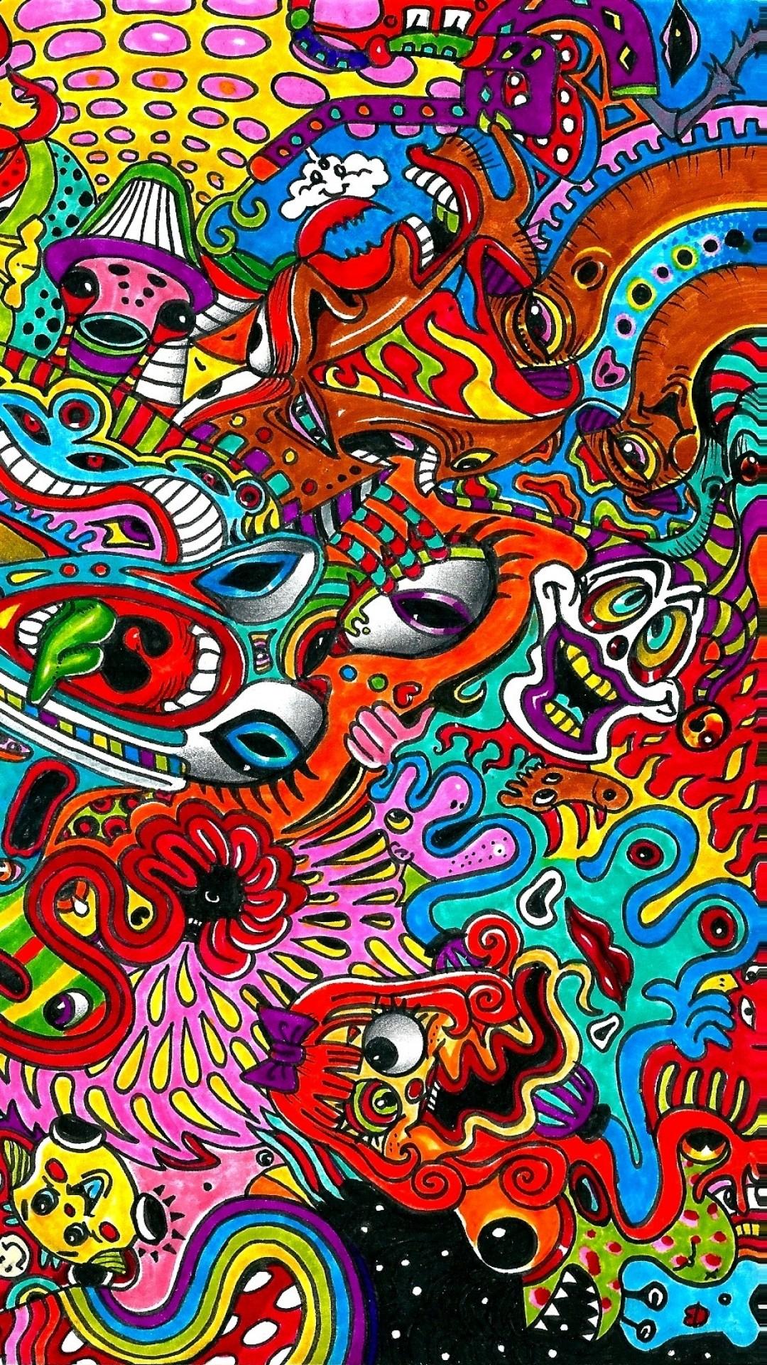 Trippy iPhone Wallpaper