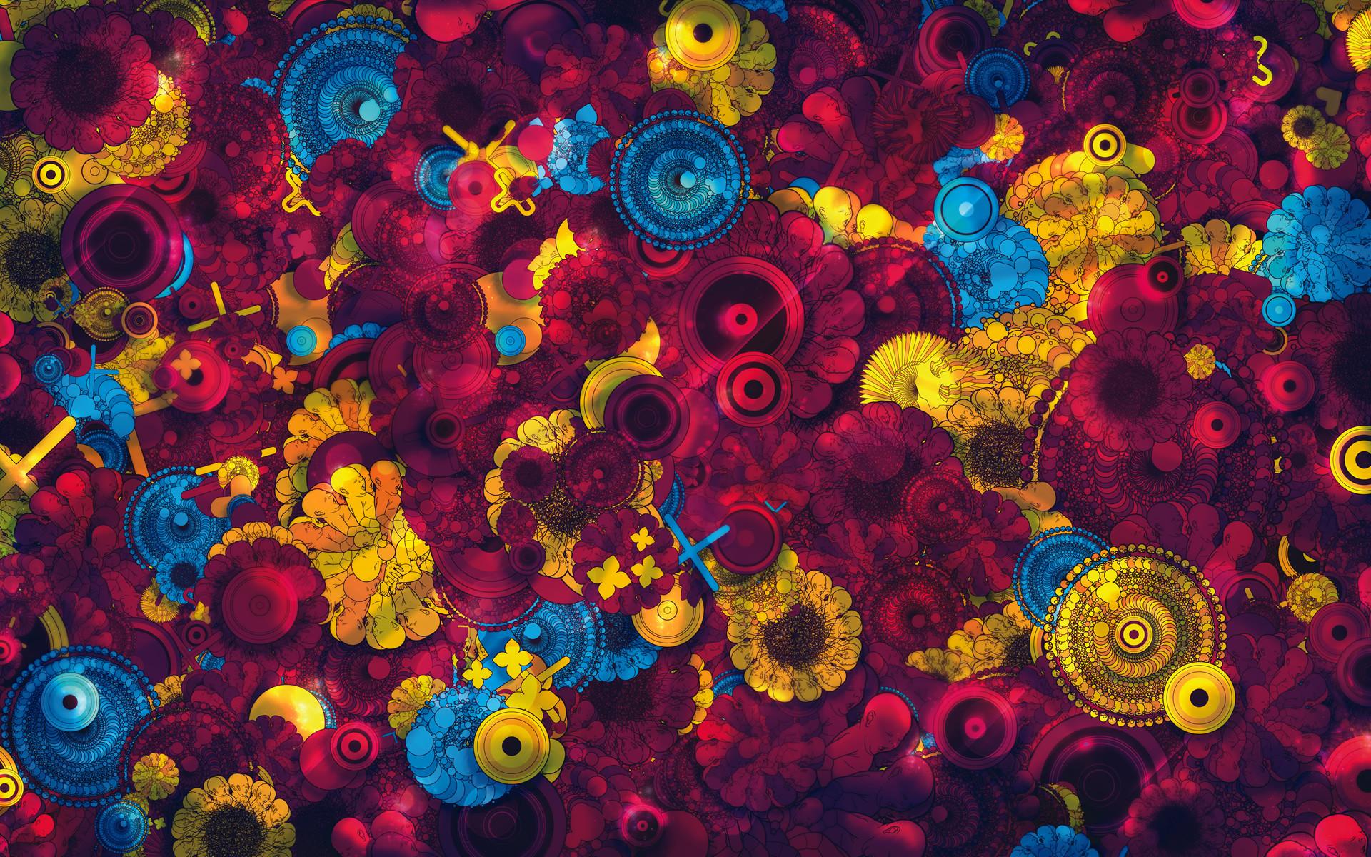 Art colorful Creative Design psychedelic HD Wallpaper