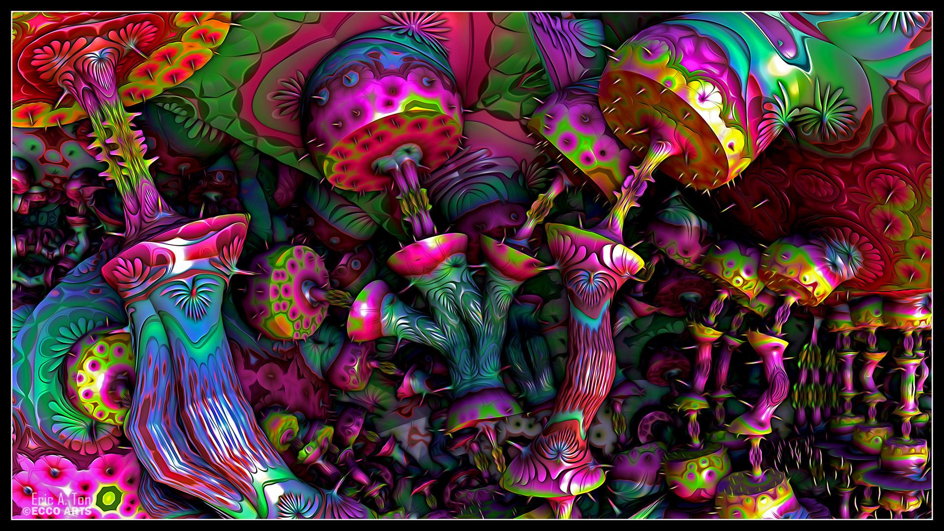 Psychedelic Mushrooms by eccoarts on DeviantArt
