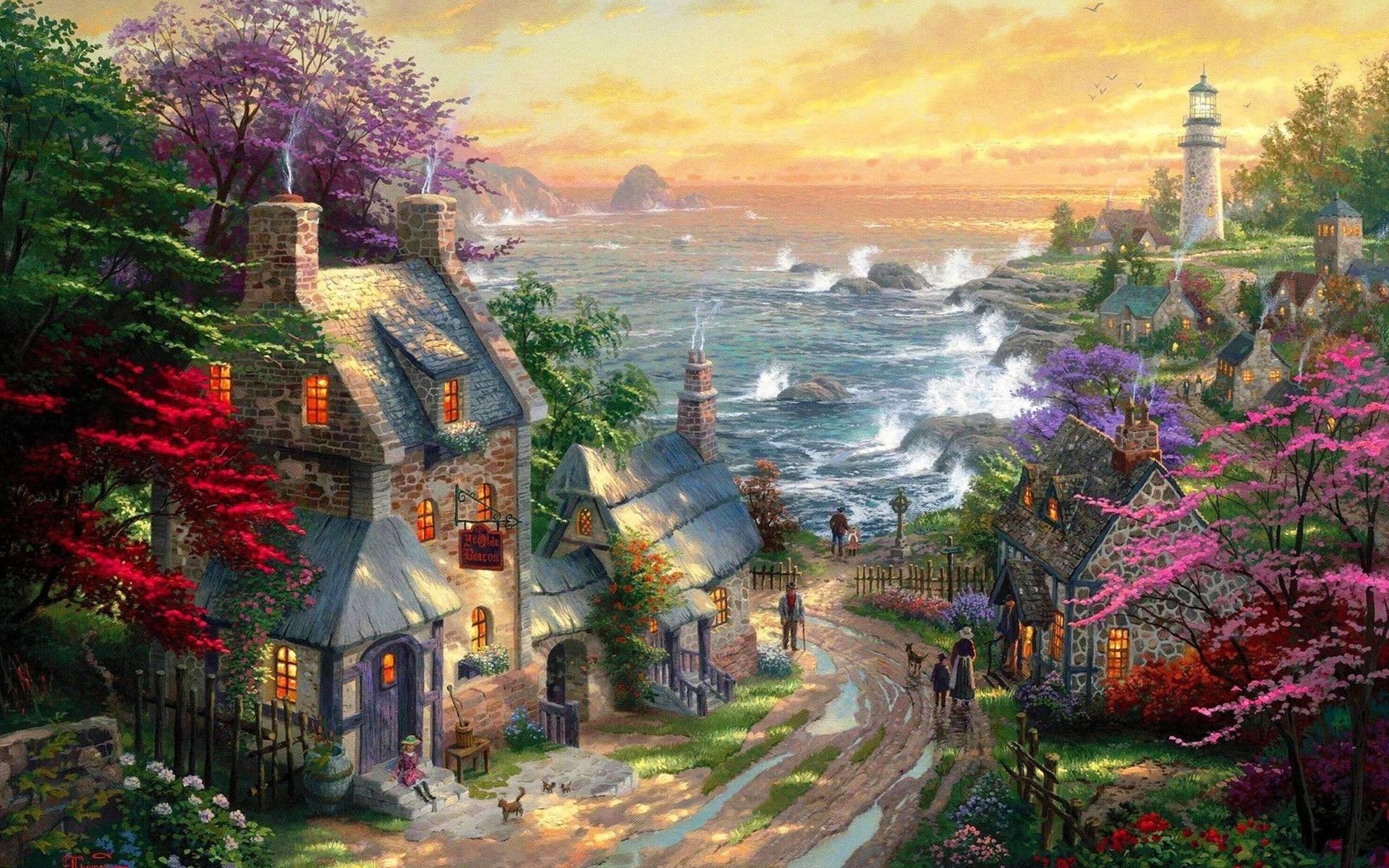 Wallpapers For > Thomas Kinkade Disney Dreams Collection Wallpaper