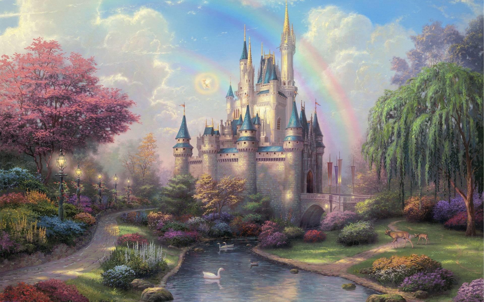 Thomas Kinkade Disneyland 50th Anniversary Wallpaper Art Painings