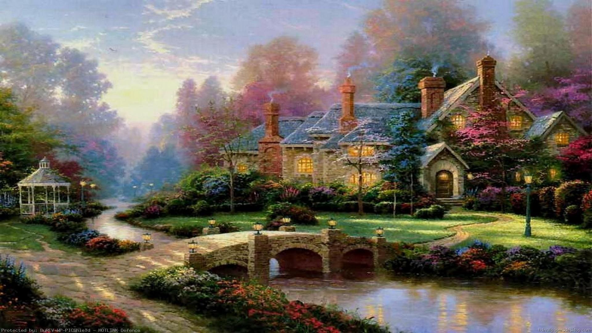 Thomas-Kinkade-Summer-Paintings-Thomas-Kinkade-Paintings-Art-