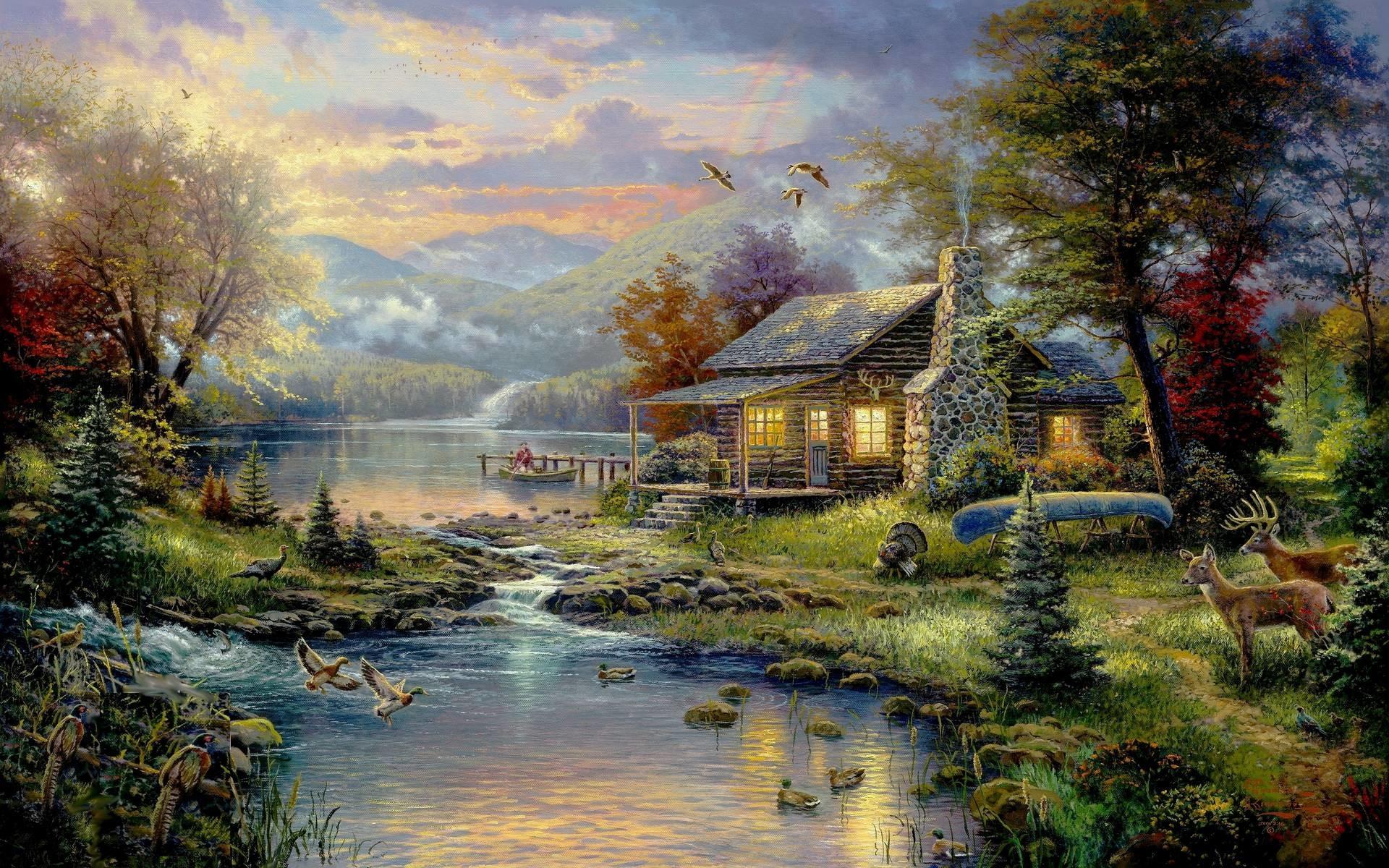 Thomas Kinkade Wallpaper | HD Wallpapers Pictures