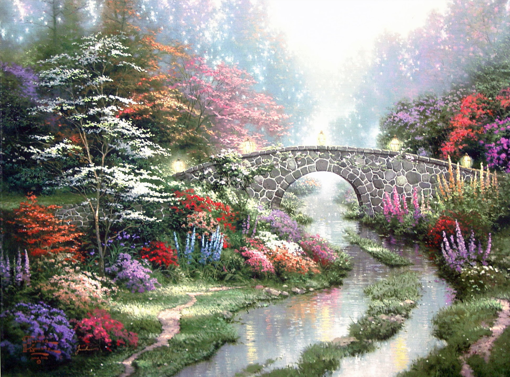 Stillwater Bridge by Thomas Kinkade