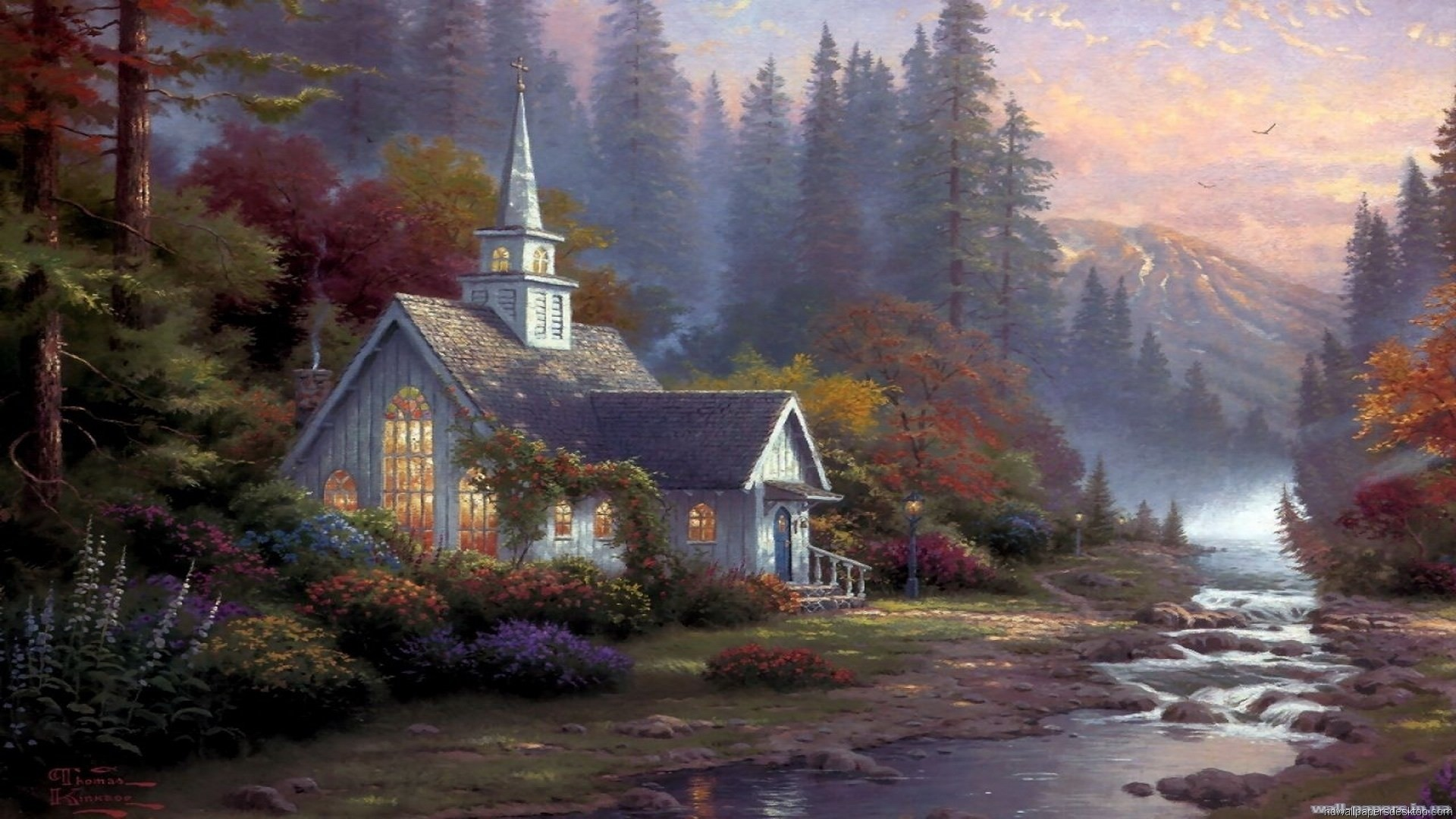 … Great Thomas Kinkade Wallpaper Download free wallpapers and desktop  backgrounds in a variety of screen resolutions