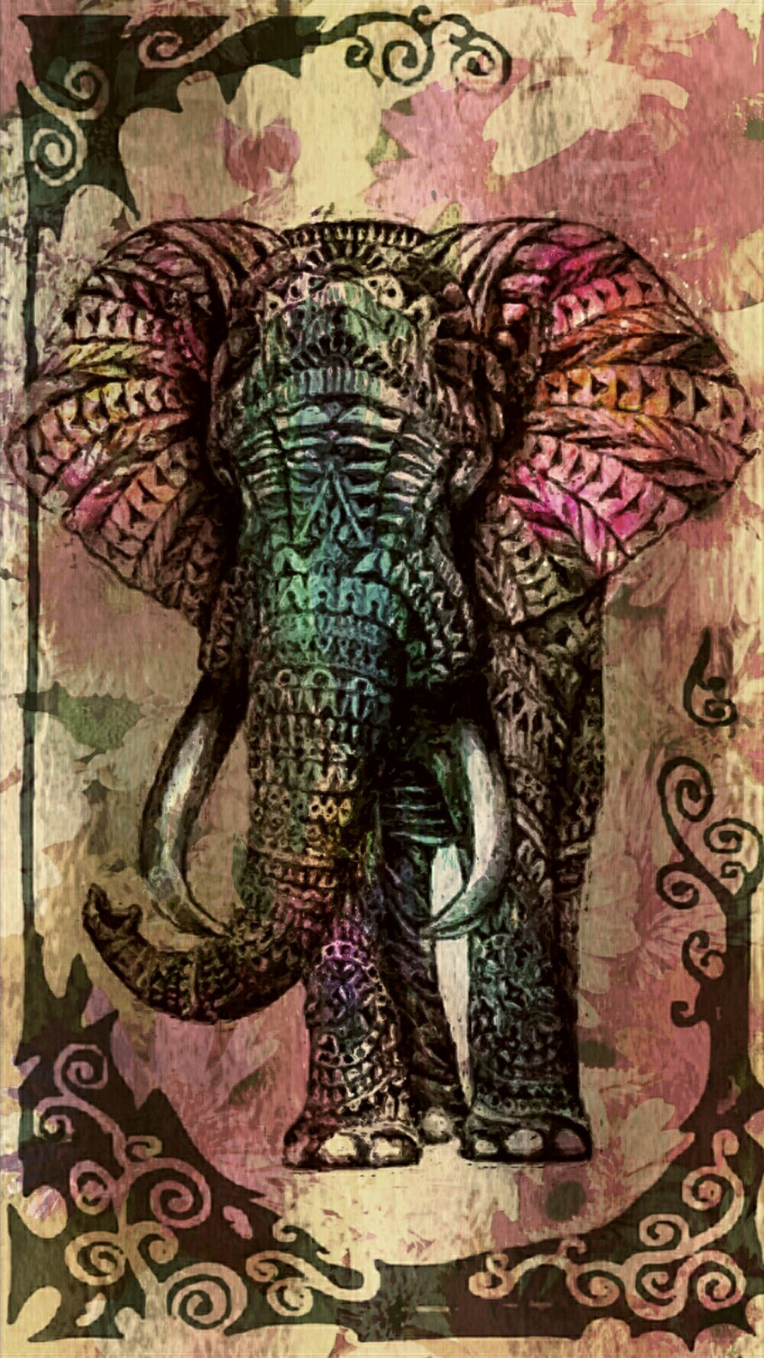 Customize your iPhone 6 Plus with this high definition Tribal Elephant  wallpaper from HD Phone Wallpapers!