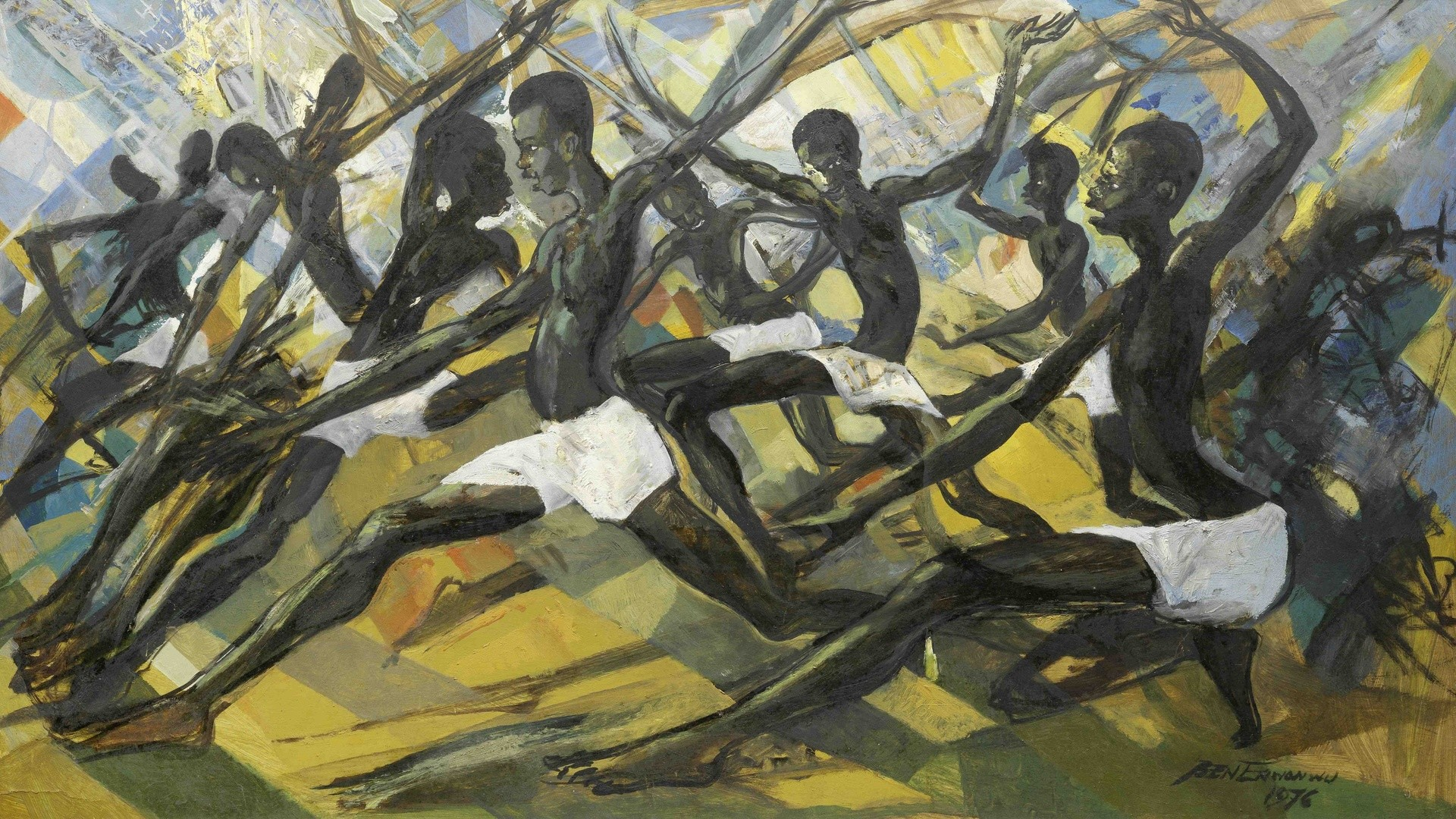 Africa, African Art, Ben Enwonwu, Princes Of Mali, Ben Enwonwu Princes Of