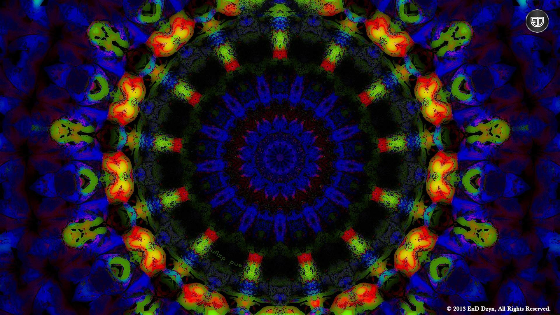 Psychedelic HD Background Wallpaper – Blue Orange Trippy 3D .