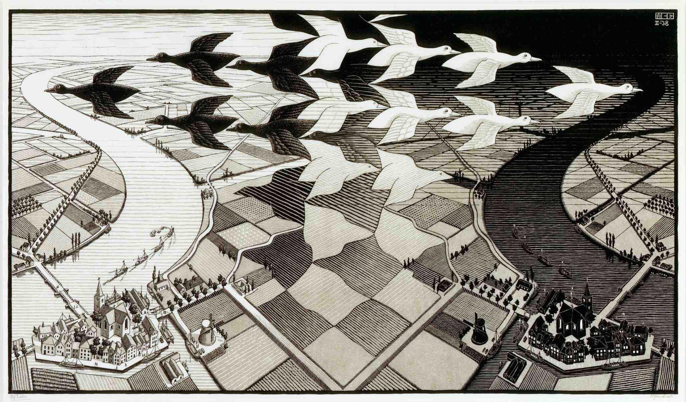 Mc Escher Wallpaper Hd Backgrounds 4 Full | Wallpaperiz.