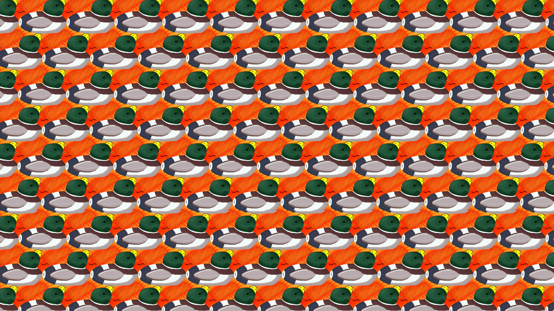 … Escher Ducks Wallpaper by Comrade by Comrade-Pony