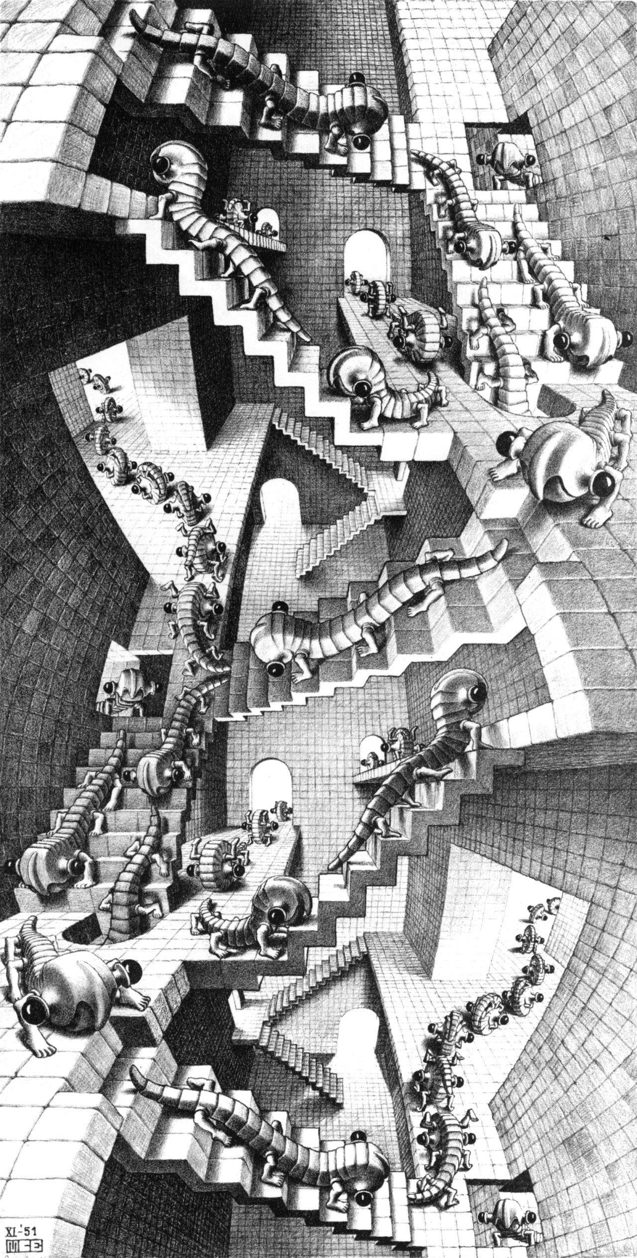 House of Stairs is a lithograph print by the Dutch artist M. C. Escher  which was first