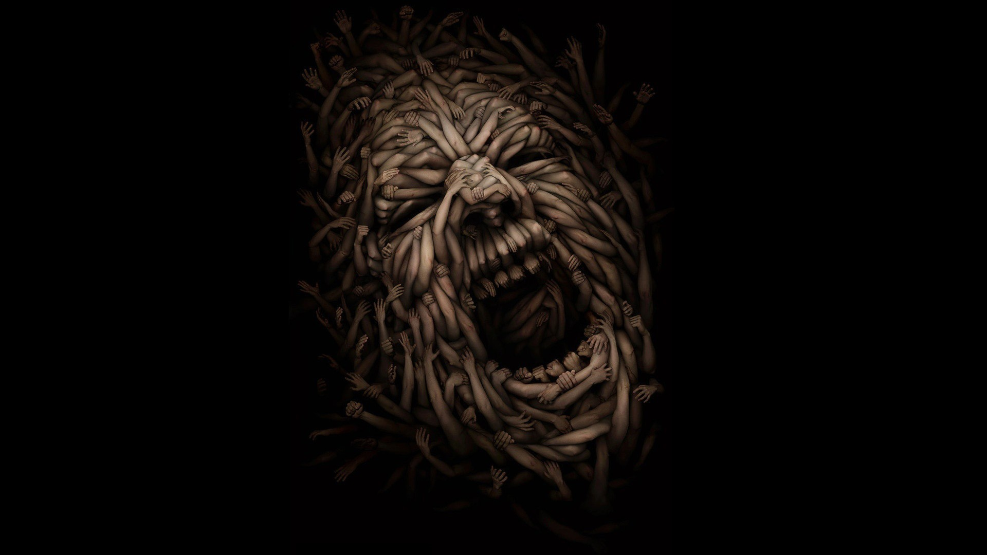 Faces Hands Illusions Screaming Skulls