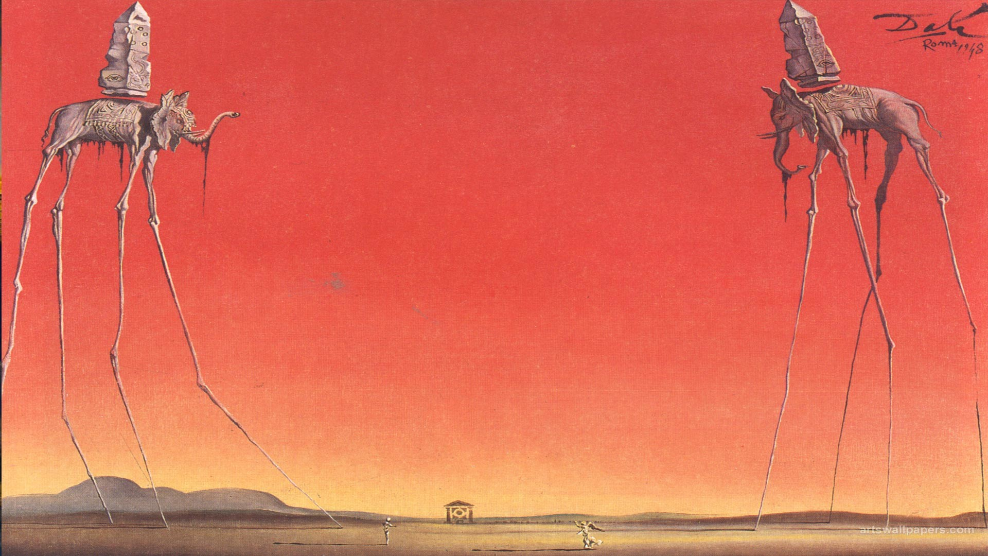 Salvador Dali – The Elephants. [1920X1080] …