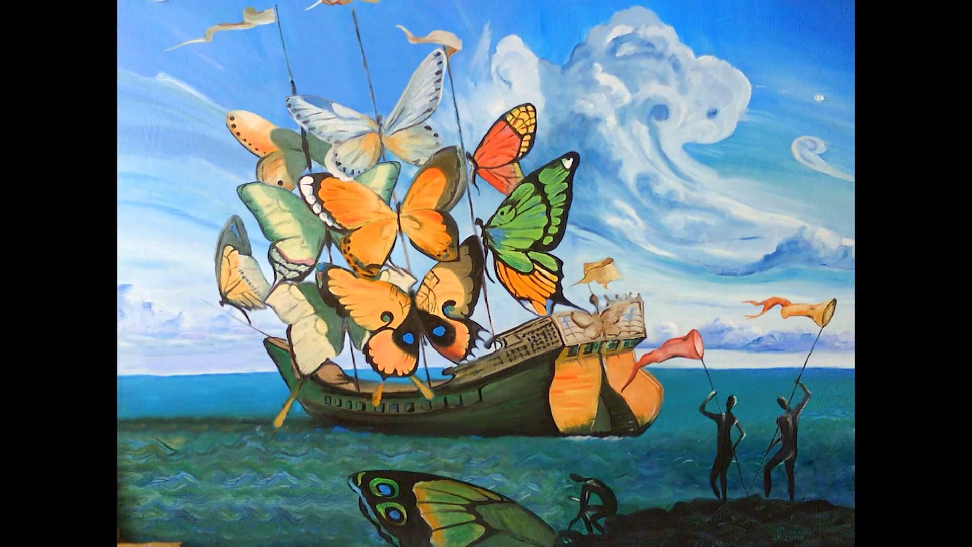 Salvador Dalí i Domènech-Pillangóhatás (after effects)