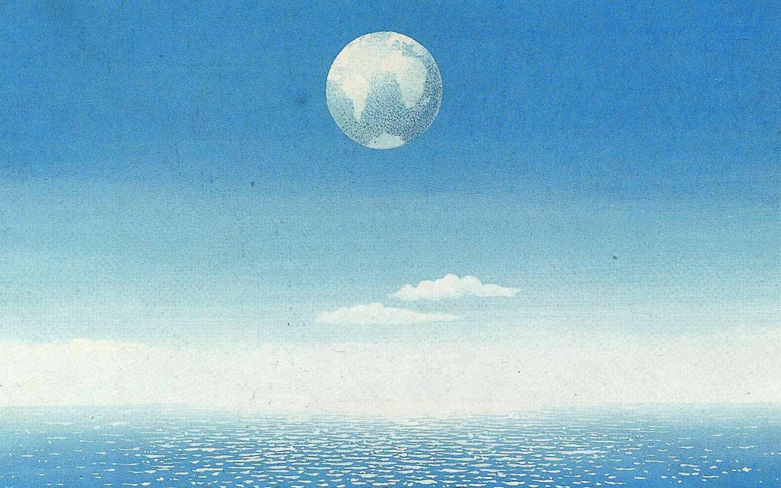 paintings earth fog surrealism artwork traditional art rene magritte  belgian sea 1585×1042 wallpa Art HD Wallpaper