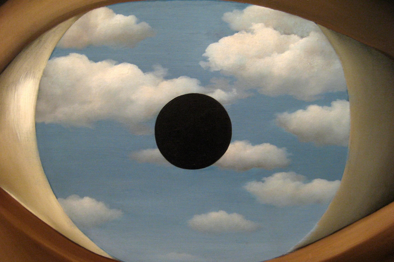 clouds eyes rene magritte wallpaper Art HD Wallpaper