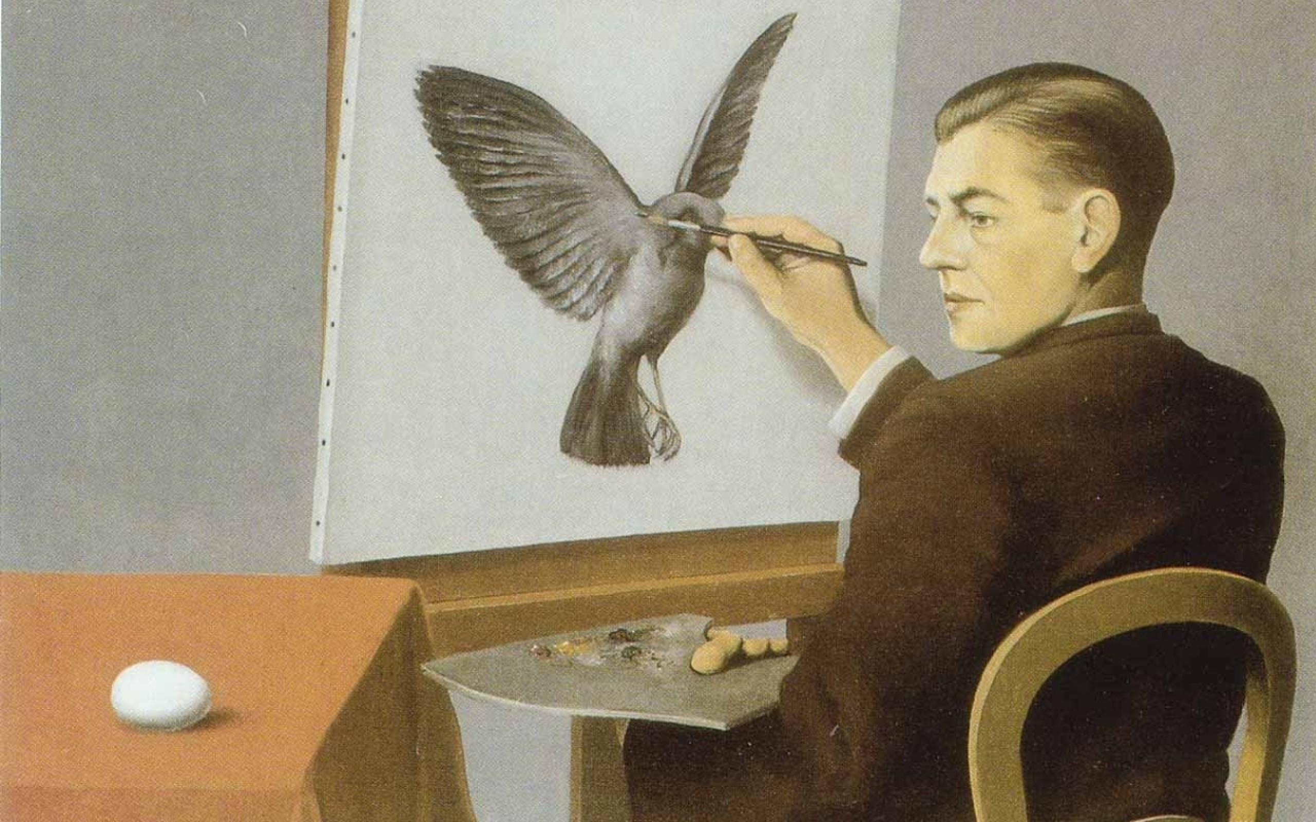 paintings self portrait painters rene magritte 1280×800 wallpaper Art HD  Wallpaper
