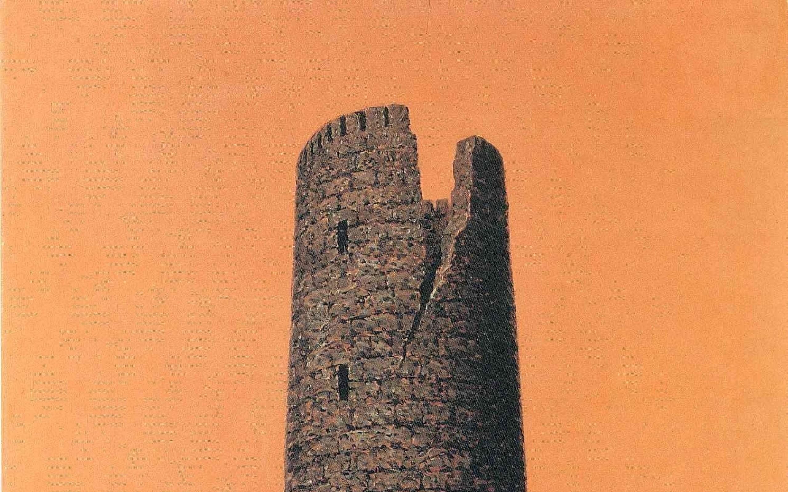 paintings castles surrealism artwork roots traditional art rene magritte  orange background belgian Art HD Wallpaper