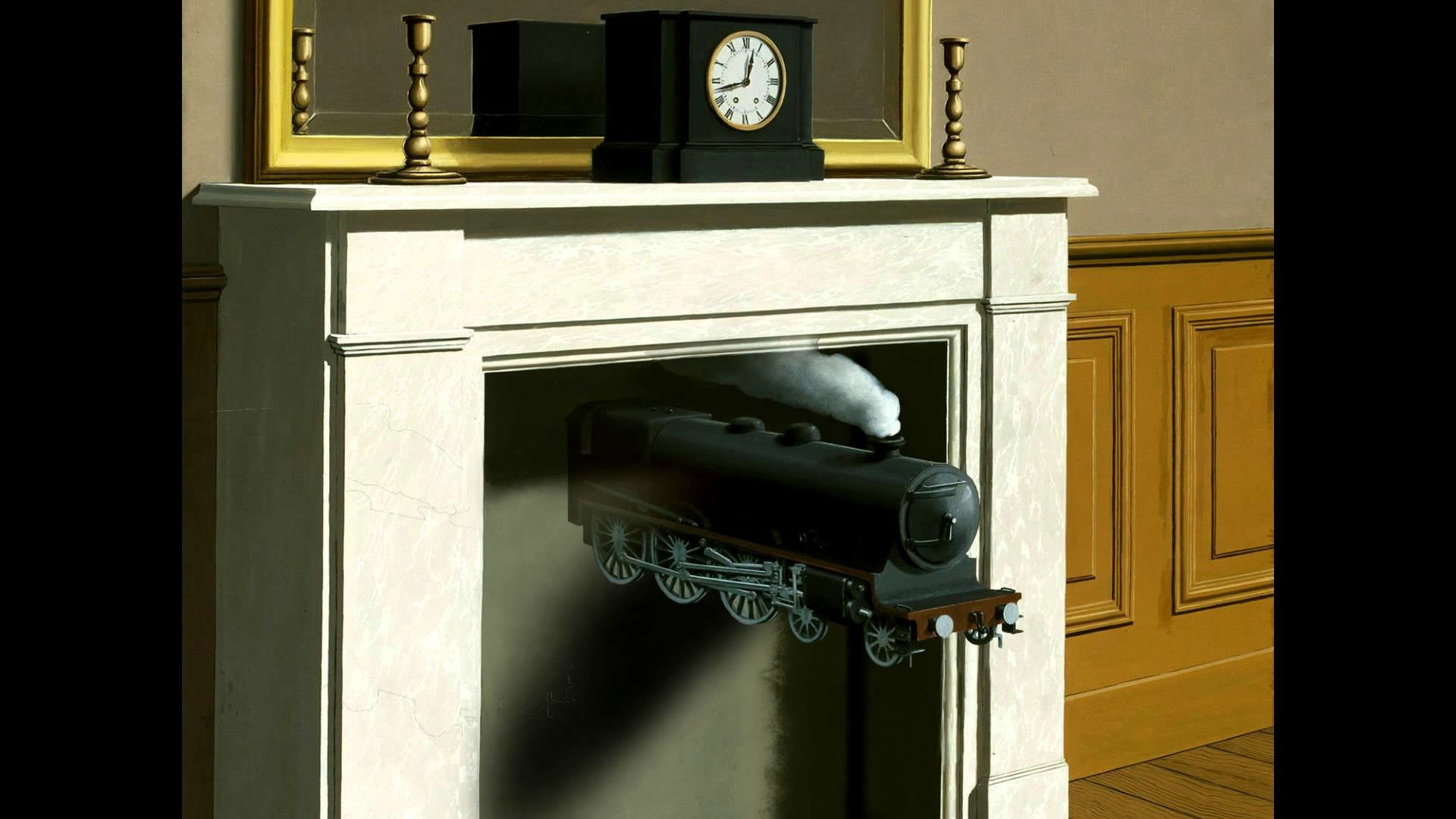 2D-Design Rene Magritte Time Transfixed Trains
